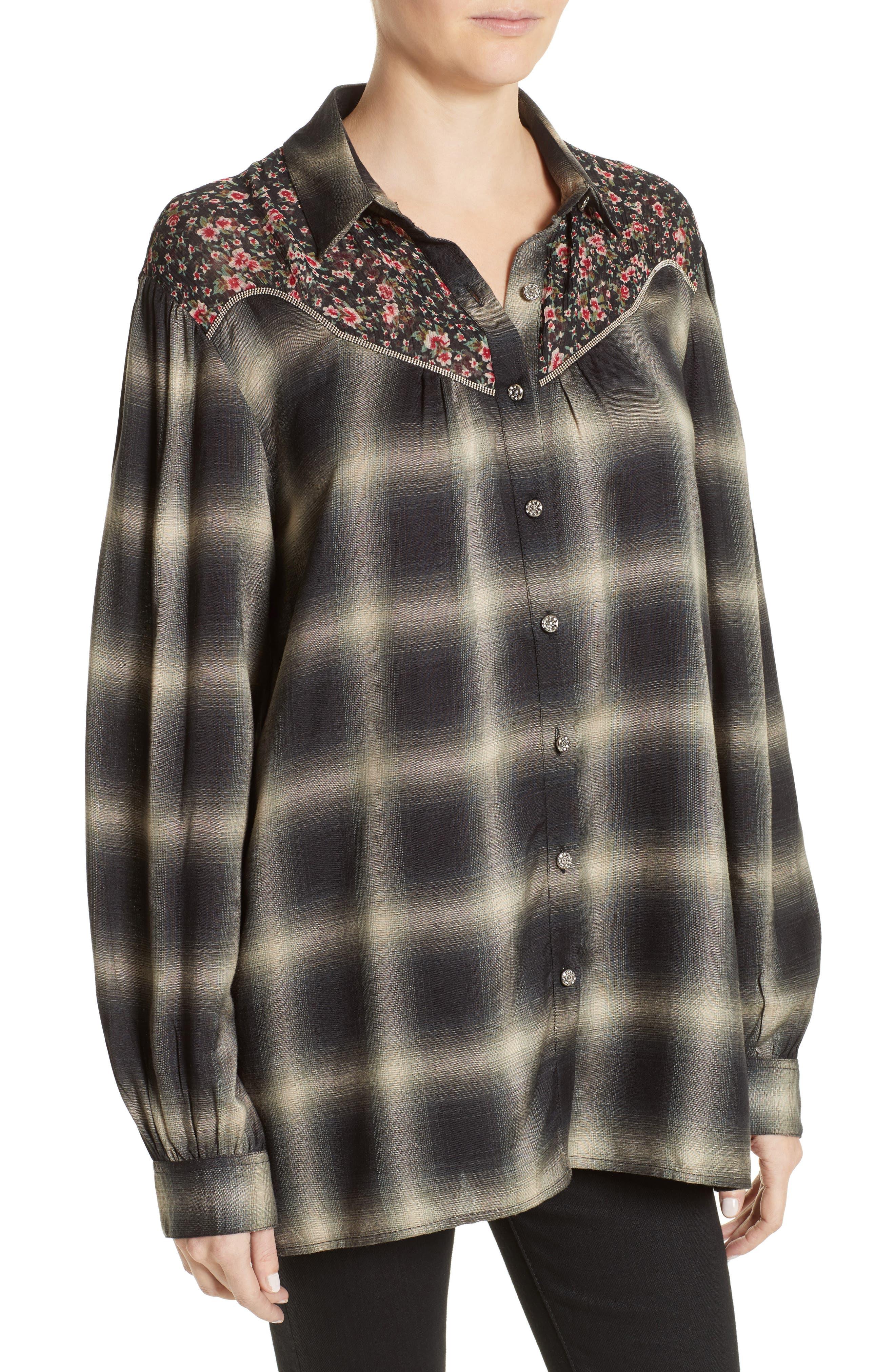 Alternate Image 4  - The Kooples James Floral Print Western Shirt