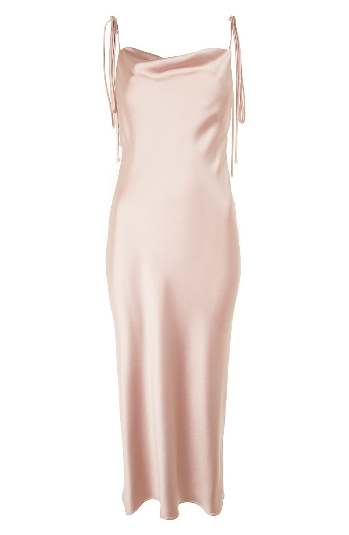 Alternate Image 5  - Topshop Bride Cowl Neck Midi Dress