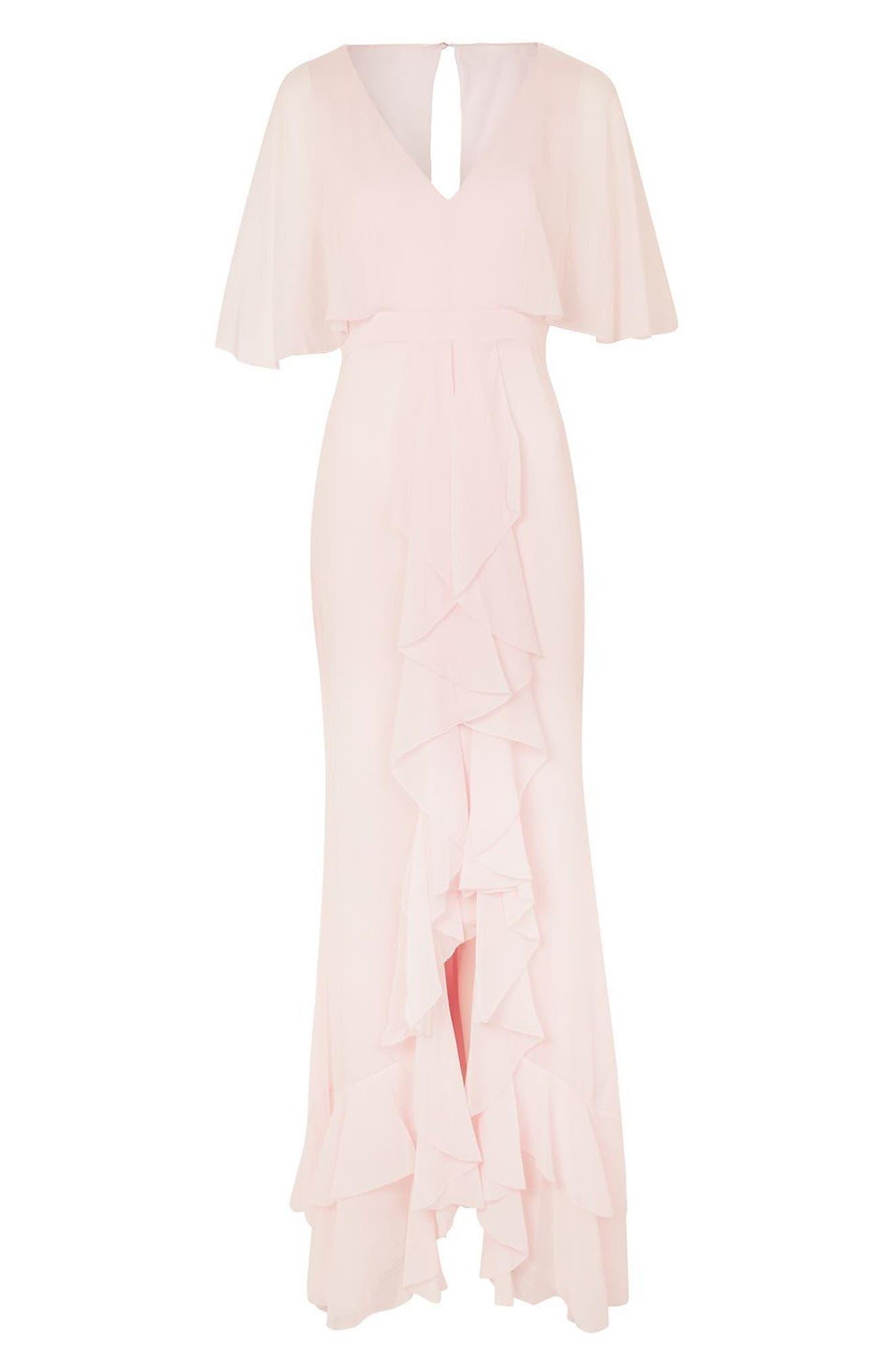 Alternate Image 4  - Topshop Bride Cascade Gown