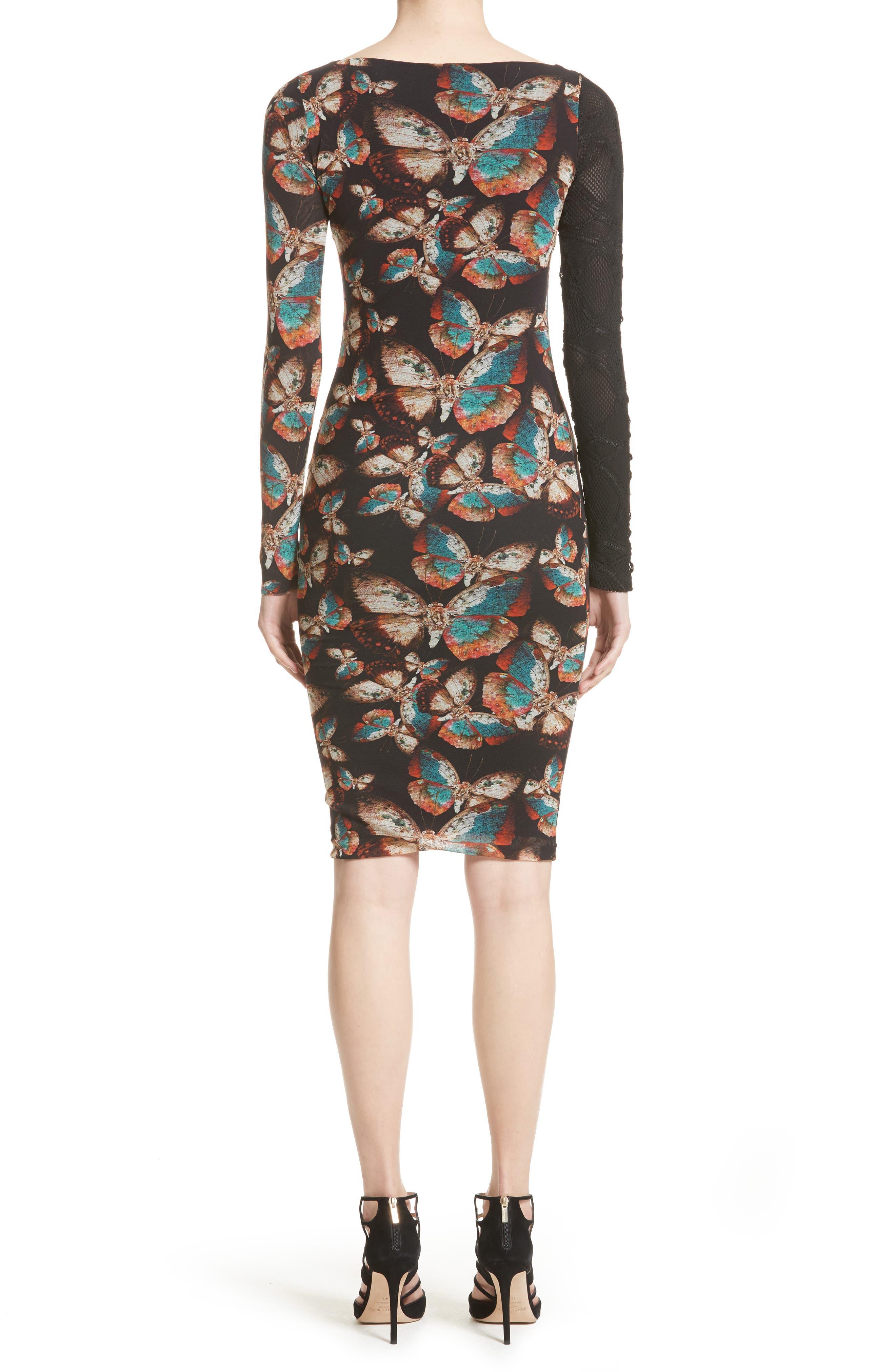Tulle Sheath Dress,                             Alternate thumbnail 2, color,                             Nero