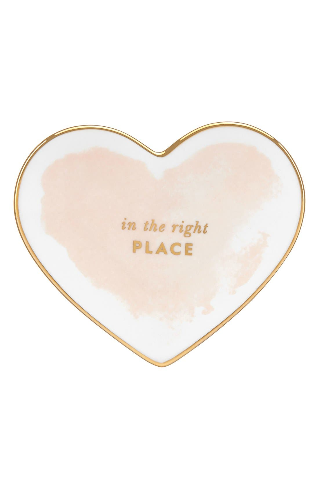 Alternate Image 1 Selected - kate spade new york 'posy court' heart dish