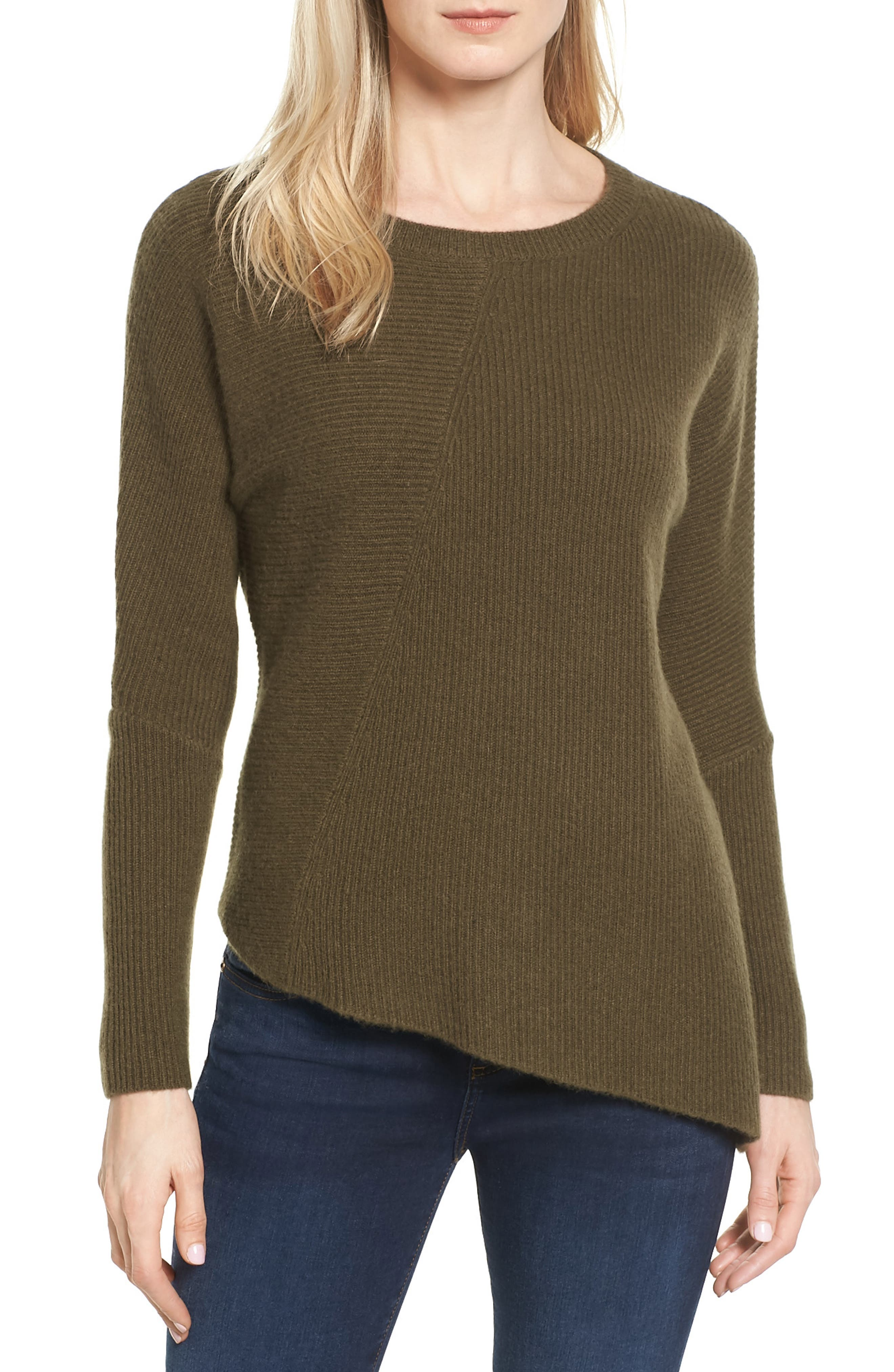 Halogen® Wool & Cashmere Tunic Sweater