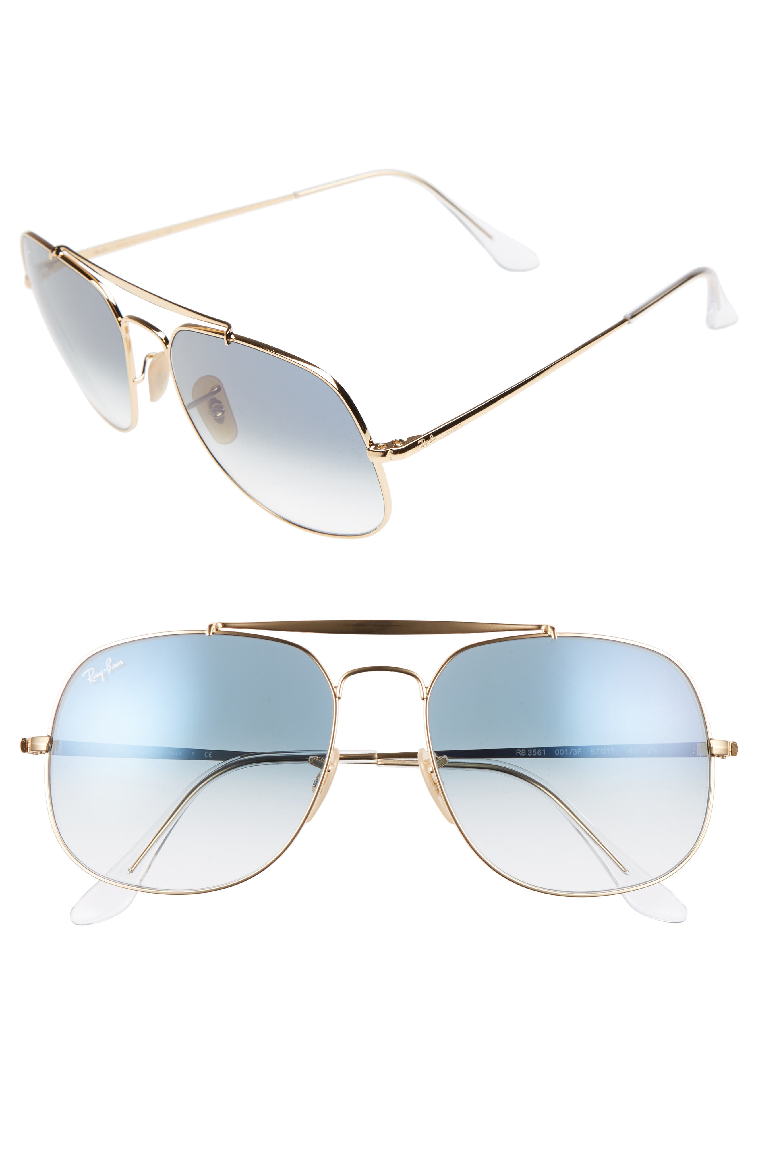 Ray-Ban 57mm Navigator Sunglasses