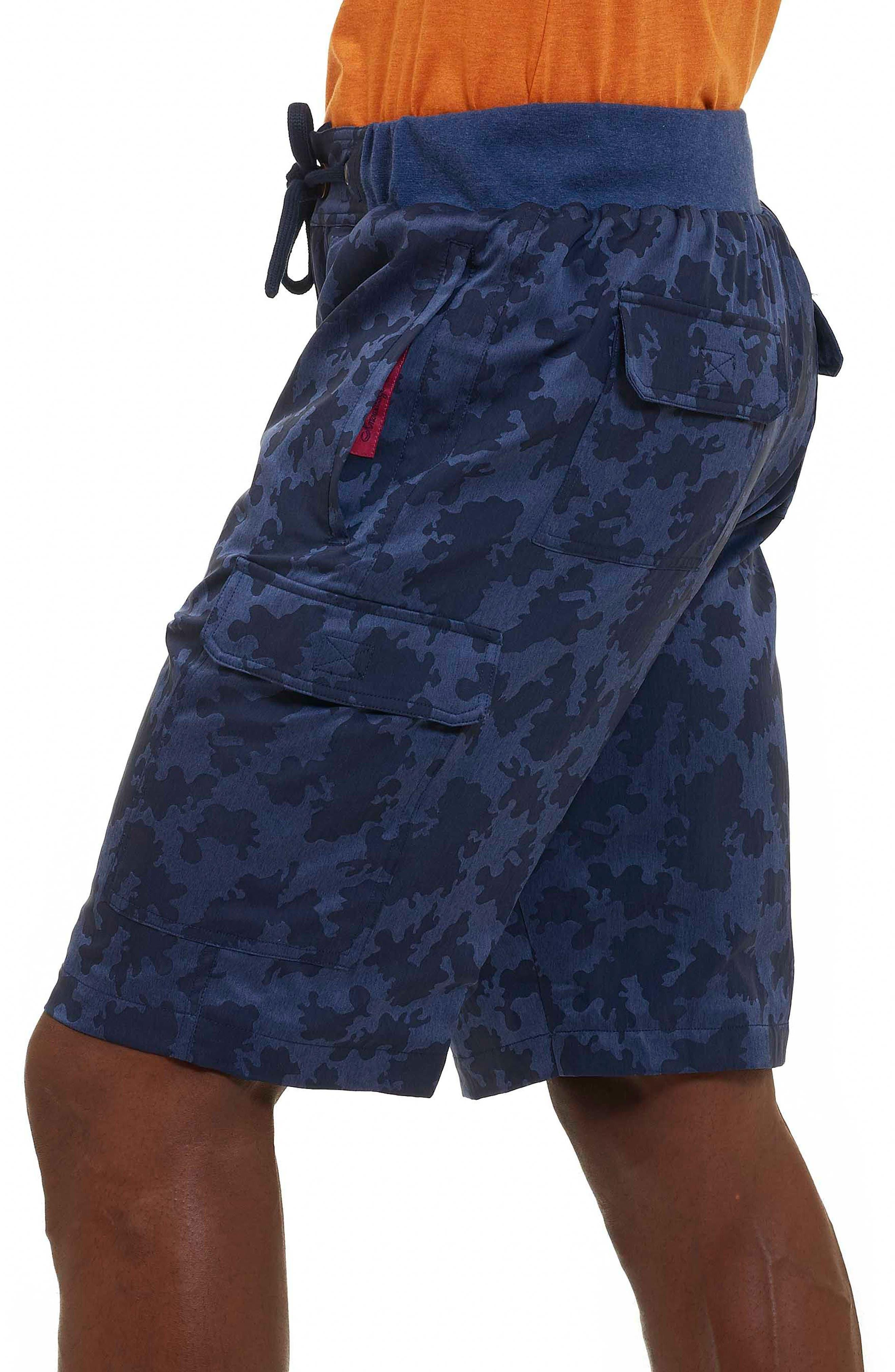 Anish Camo Cargo Shorts,                             Alternate thumbnail 3, color,                             Blue