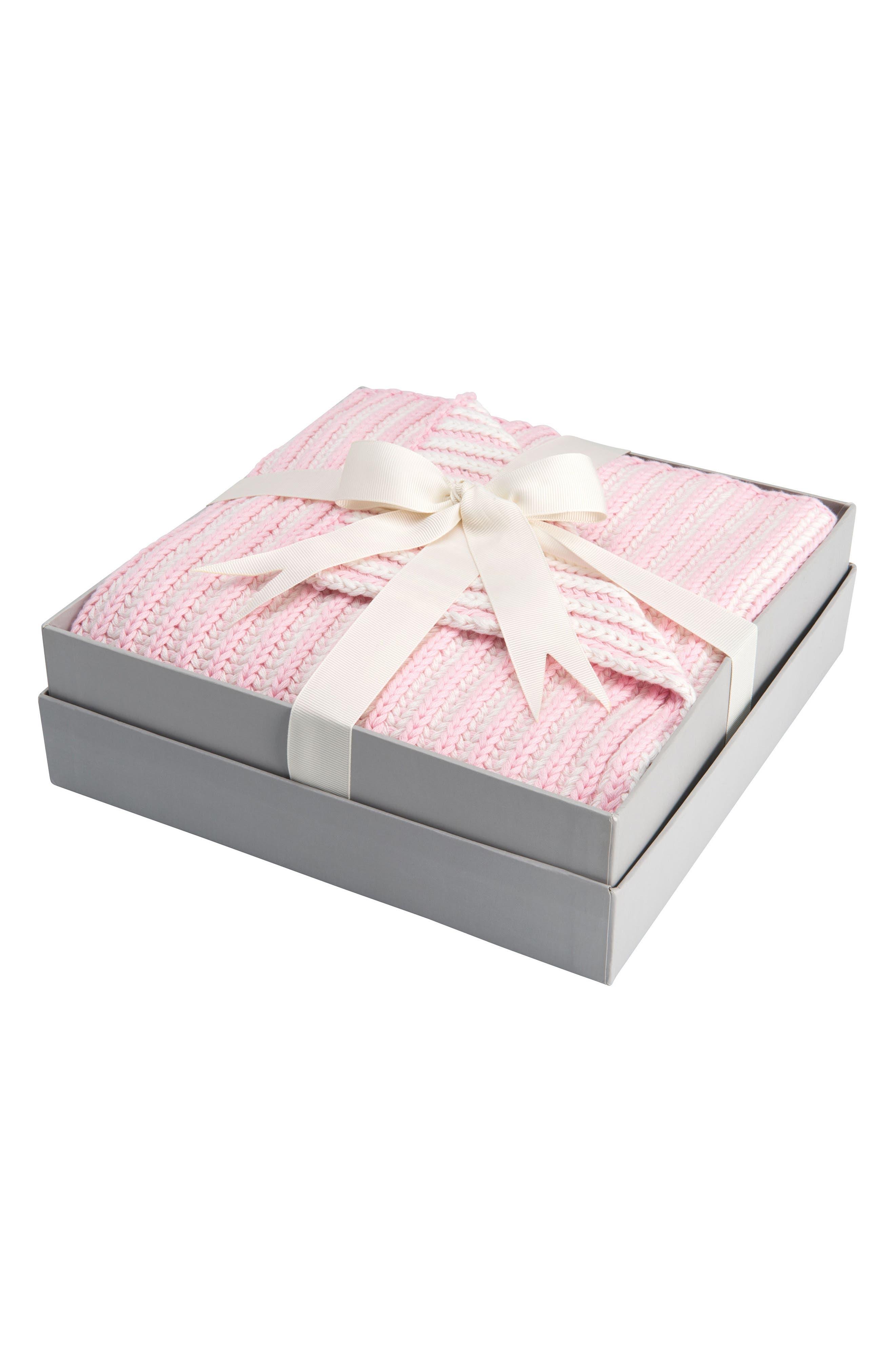 Main Image - Elegant Baby Twisted Yarn Blanket