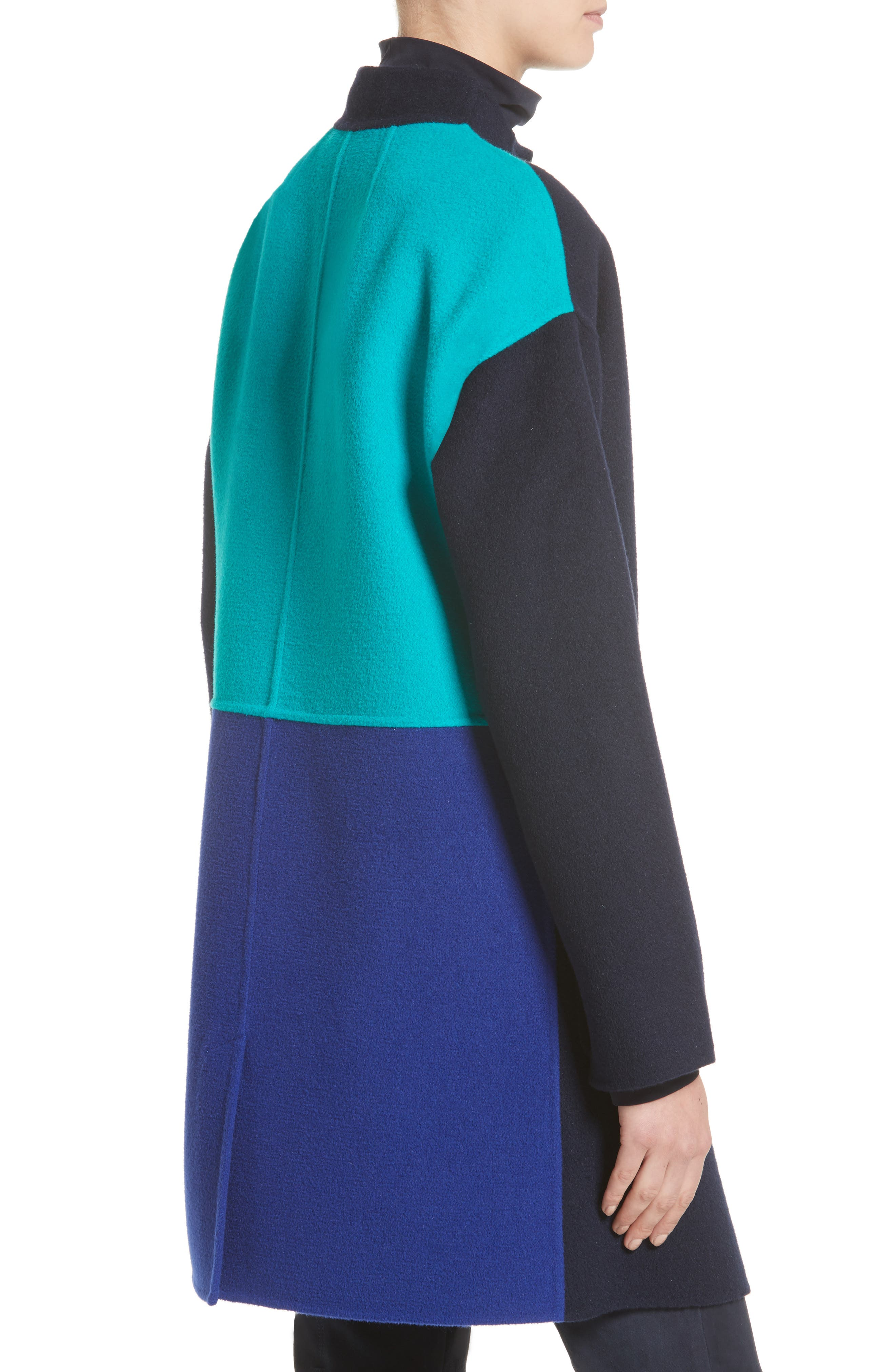 Alternate Image 5  - St. John Collection Colorblock Double Face Wool Blend Coat