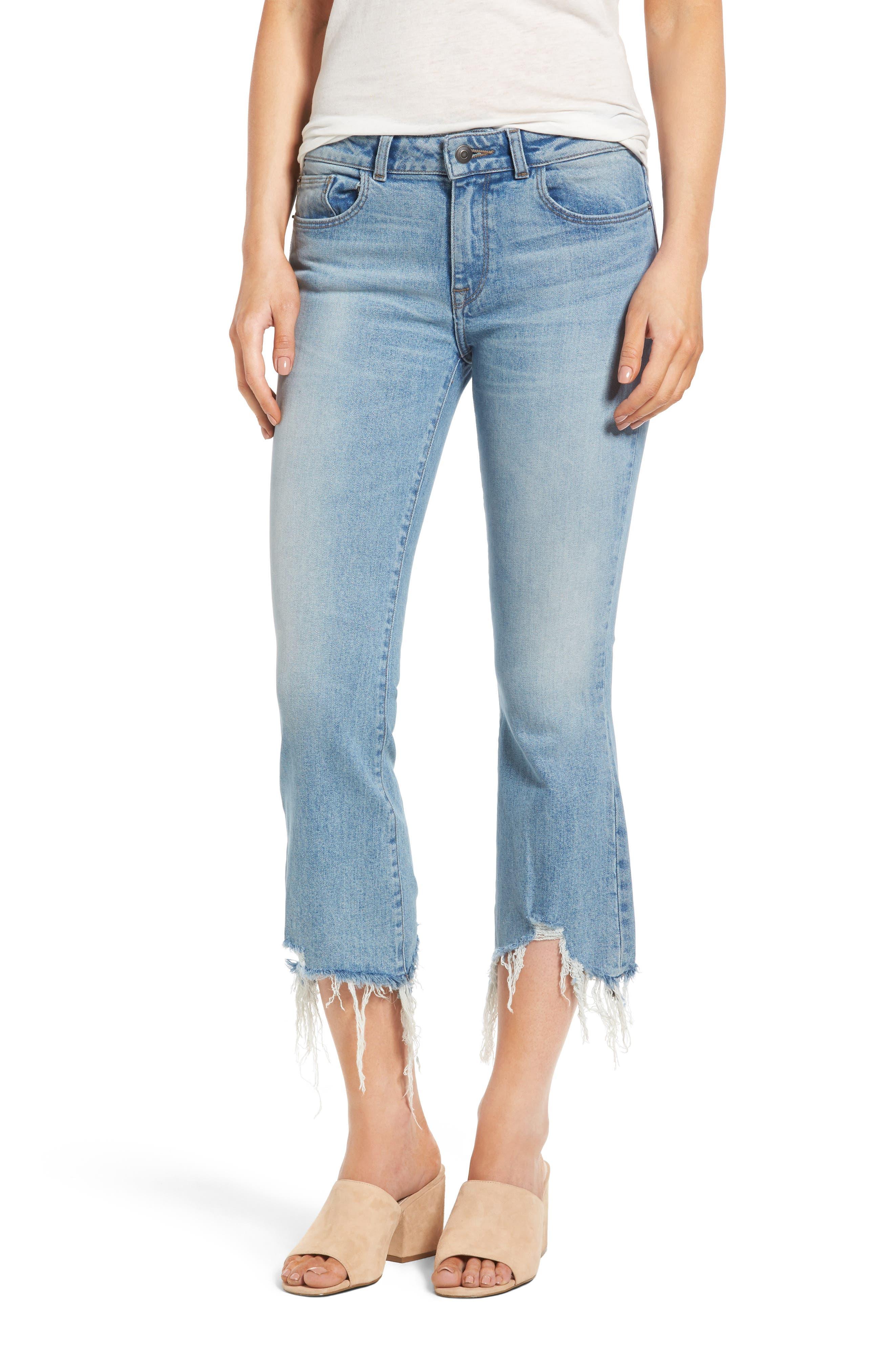 DL1961 Lara Crop Flare Jeans (Glacier)