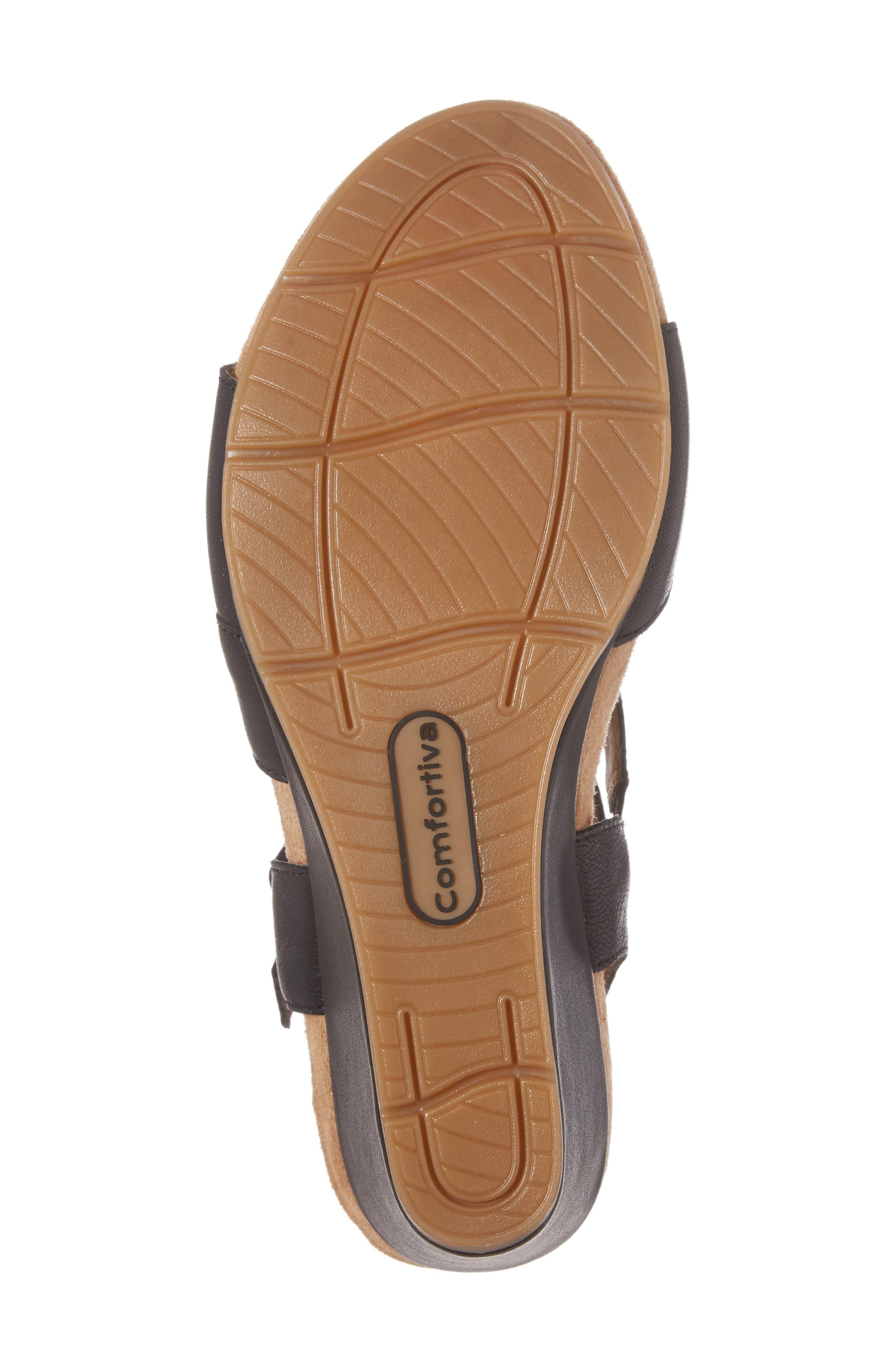 Alternate Image 6  - Comfortiva Violet Wedge Sandal (Women)