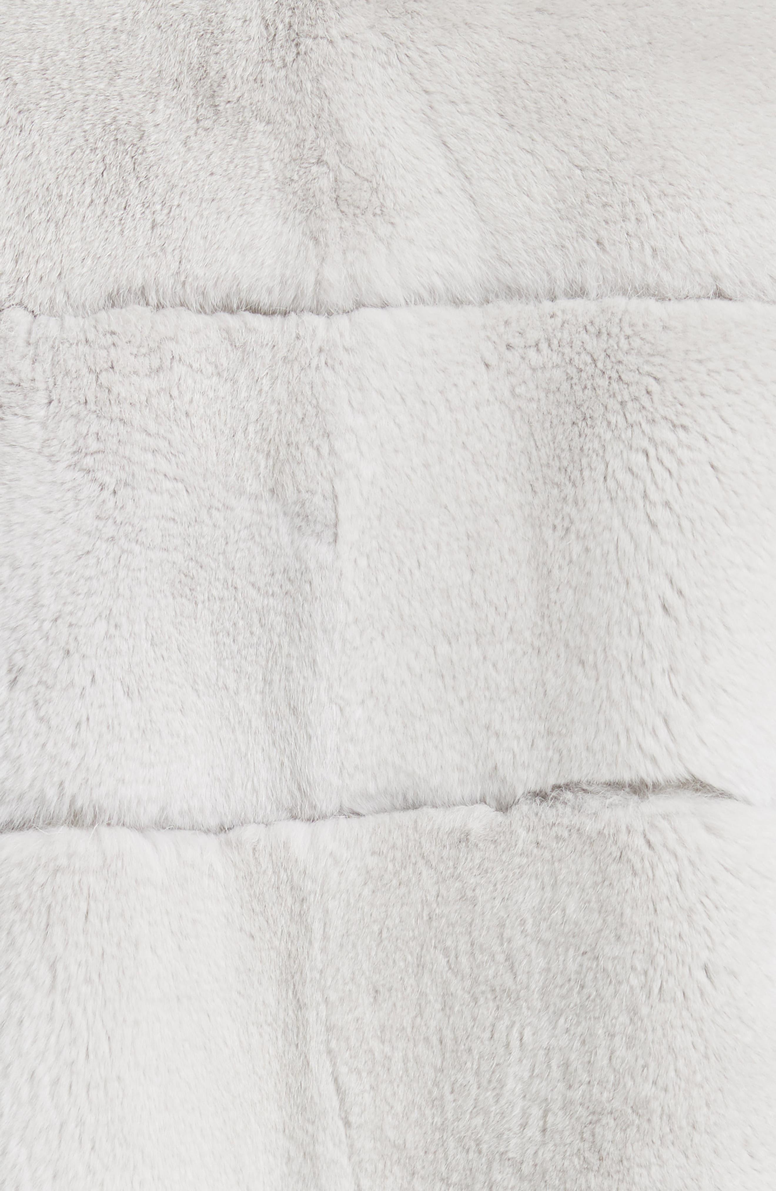 Genuine Rex Rabbit Fur Jacket,                             Alternate thumbnail 6, color,                             Light Grey