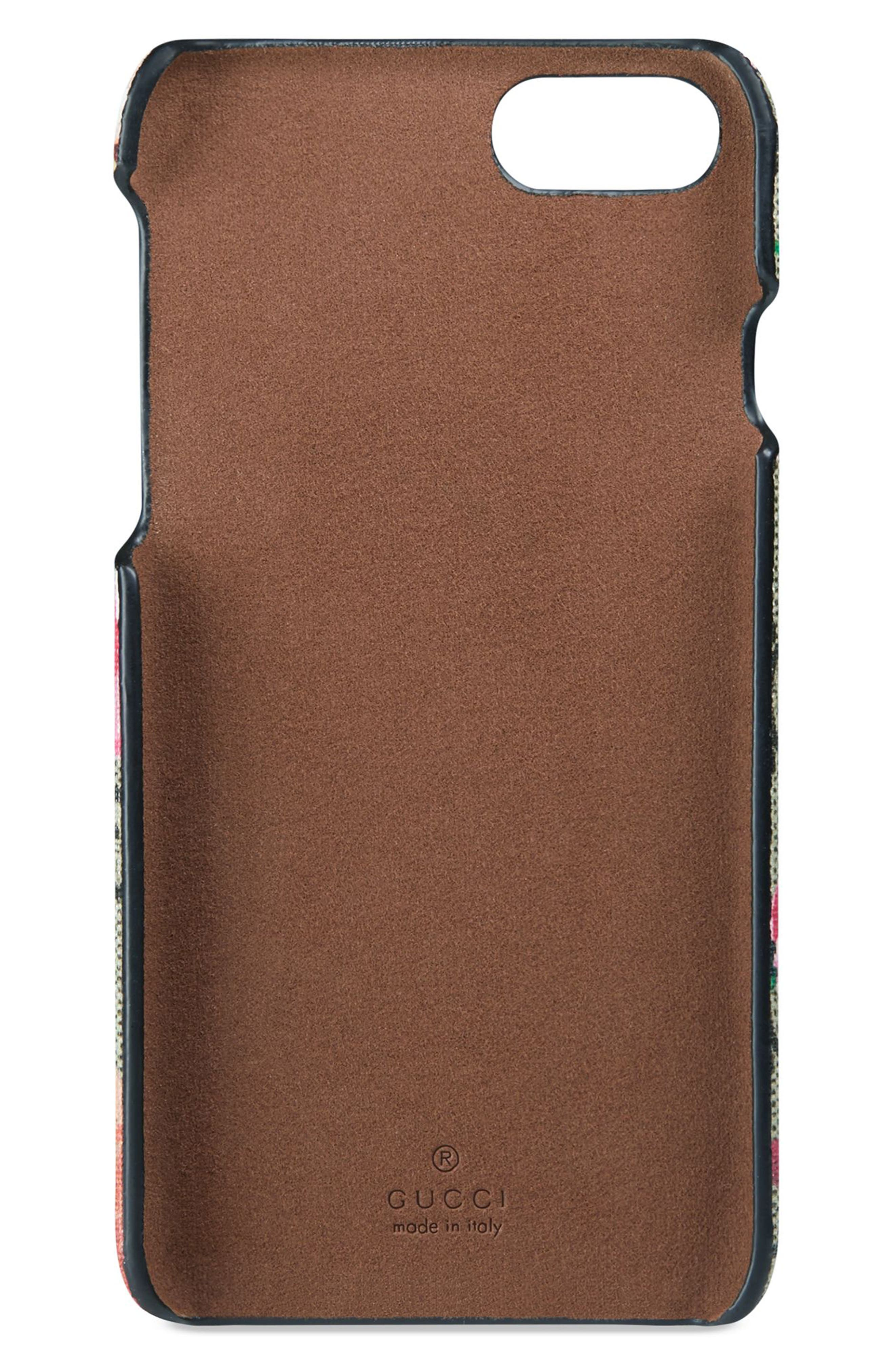 GG Blooms iPhone 7 Case,                             Alternate thumbnail 2, color,                             Beige Ebony Multi