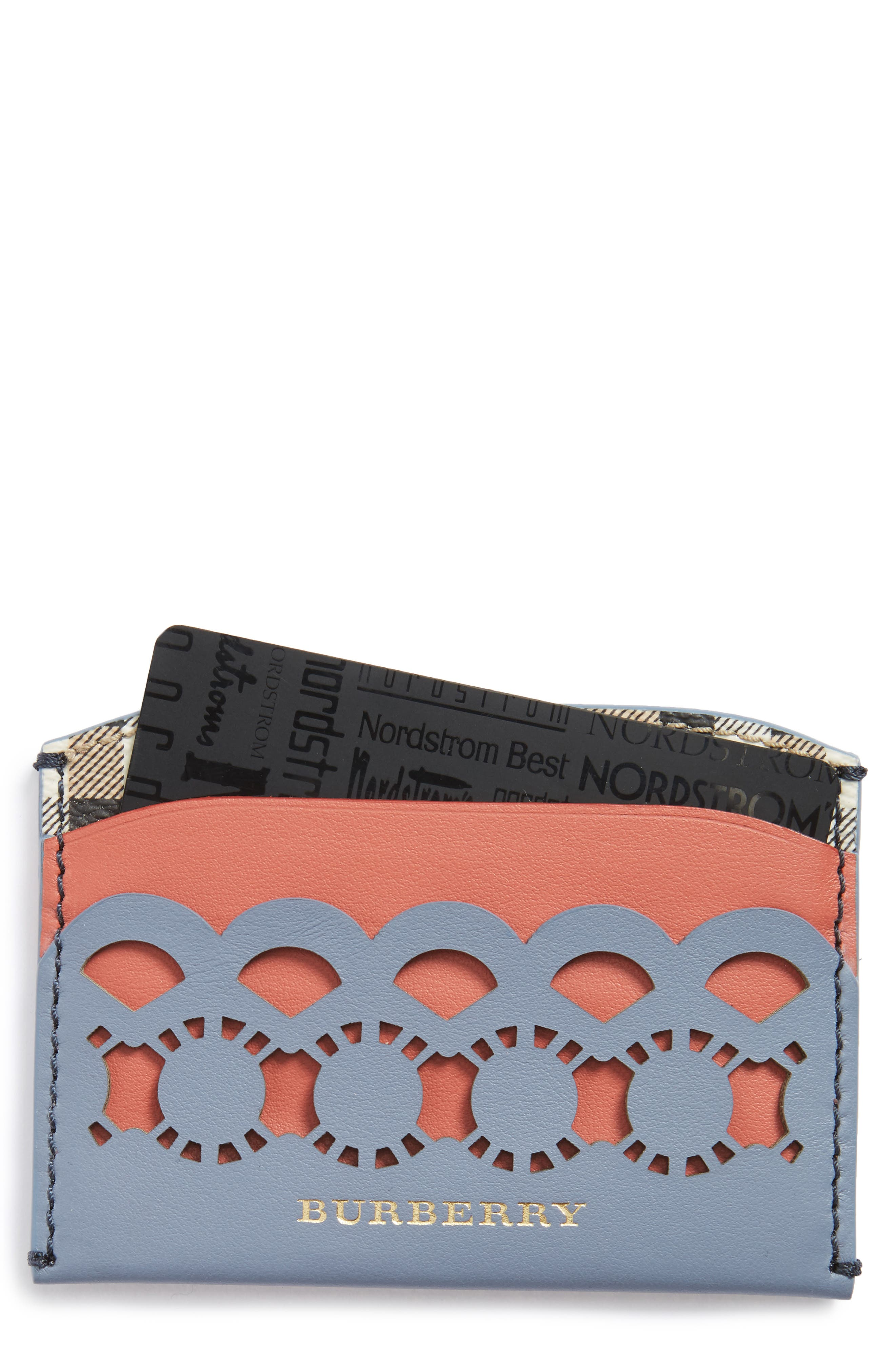 Alternate Image 1 Selected - Burberry Izzy Scallop Card Case