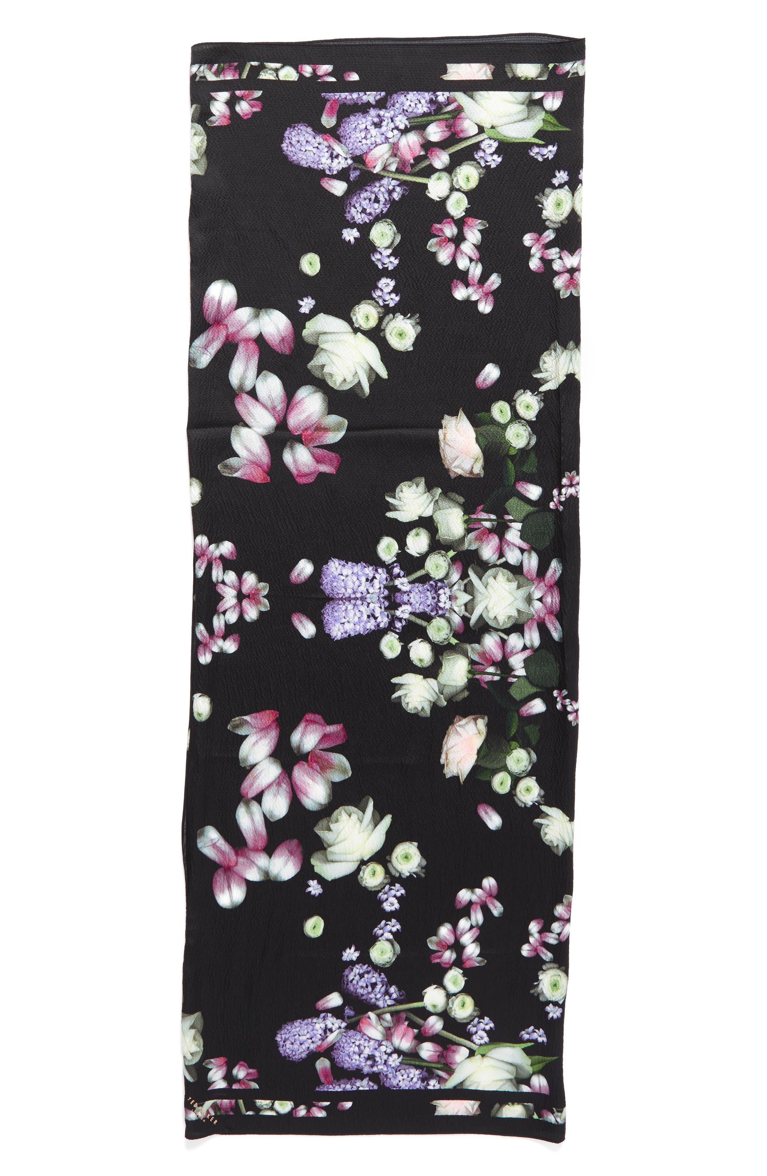 Alternate Image 5  - Ted Baker London Kensington Floral Silk Cape