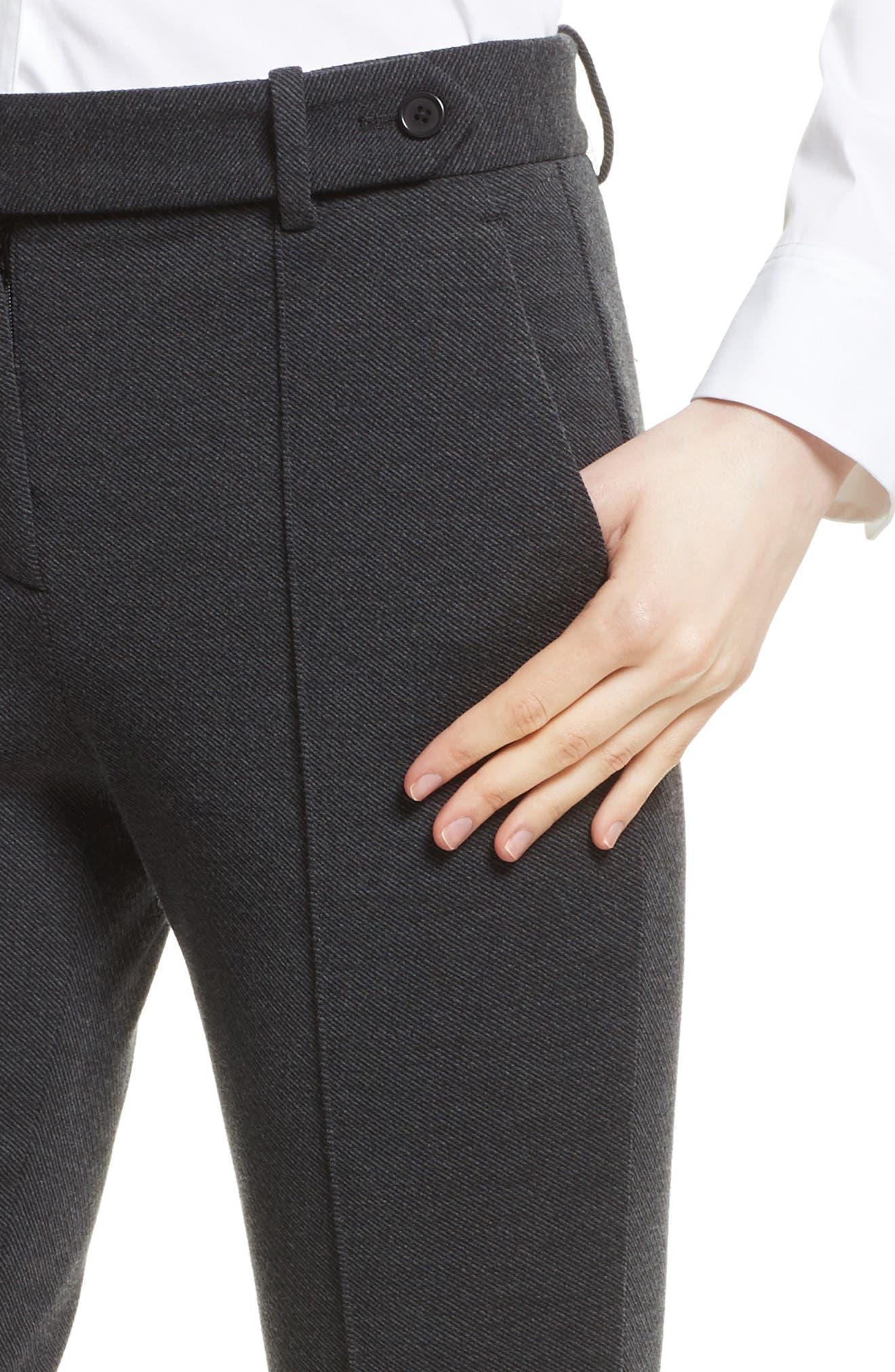 Alternate Image 4  - Theory Pintuck Knit Twill Pants
