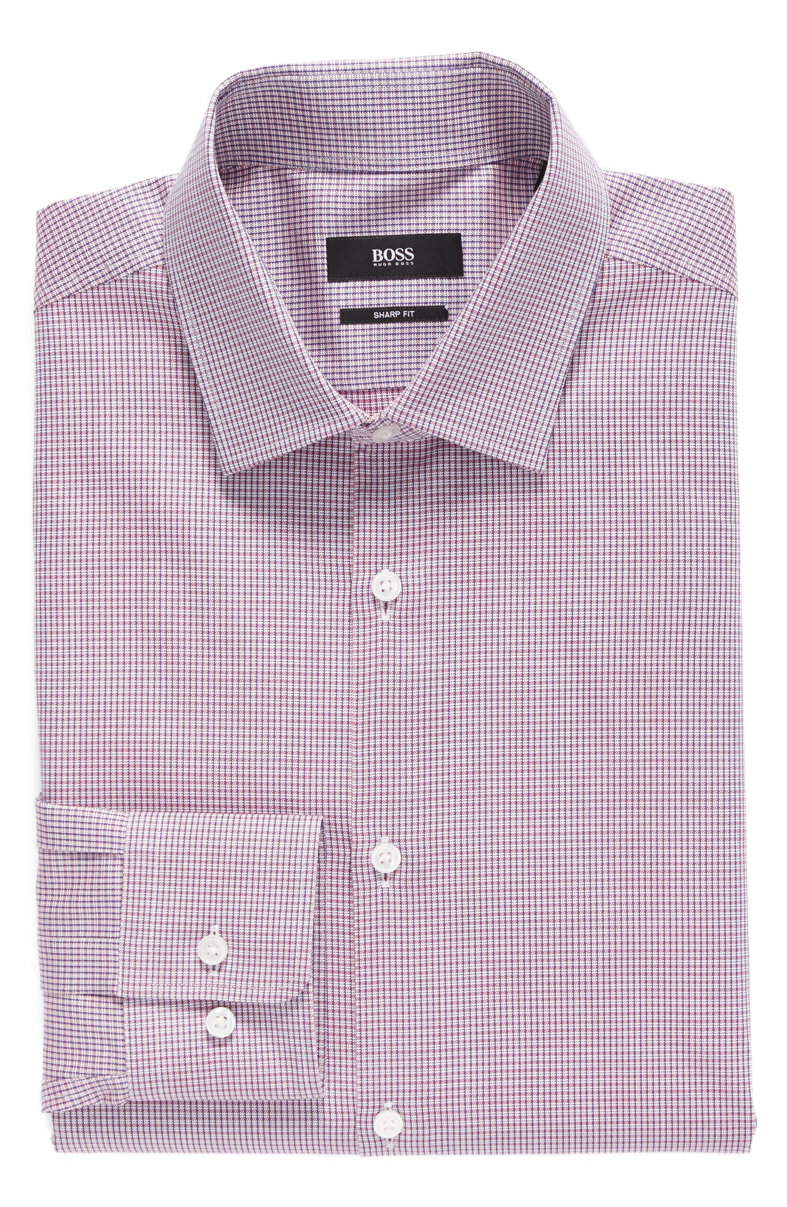 Alternate Image 1 Selected - BOSS Sharp Fit Check Dress Shirt