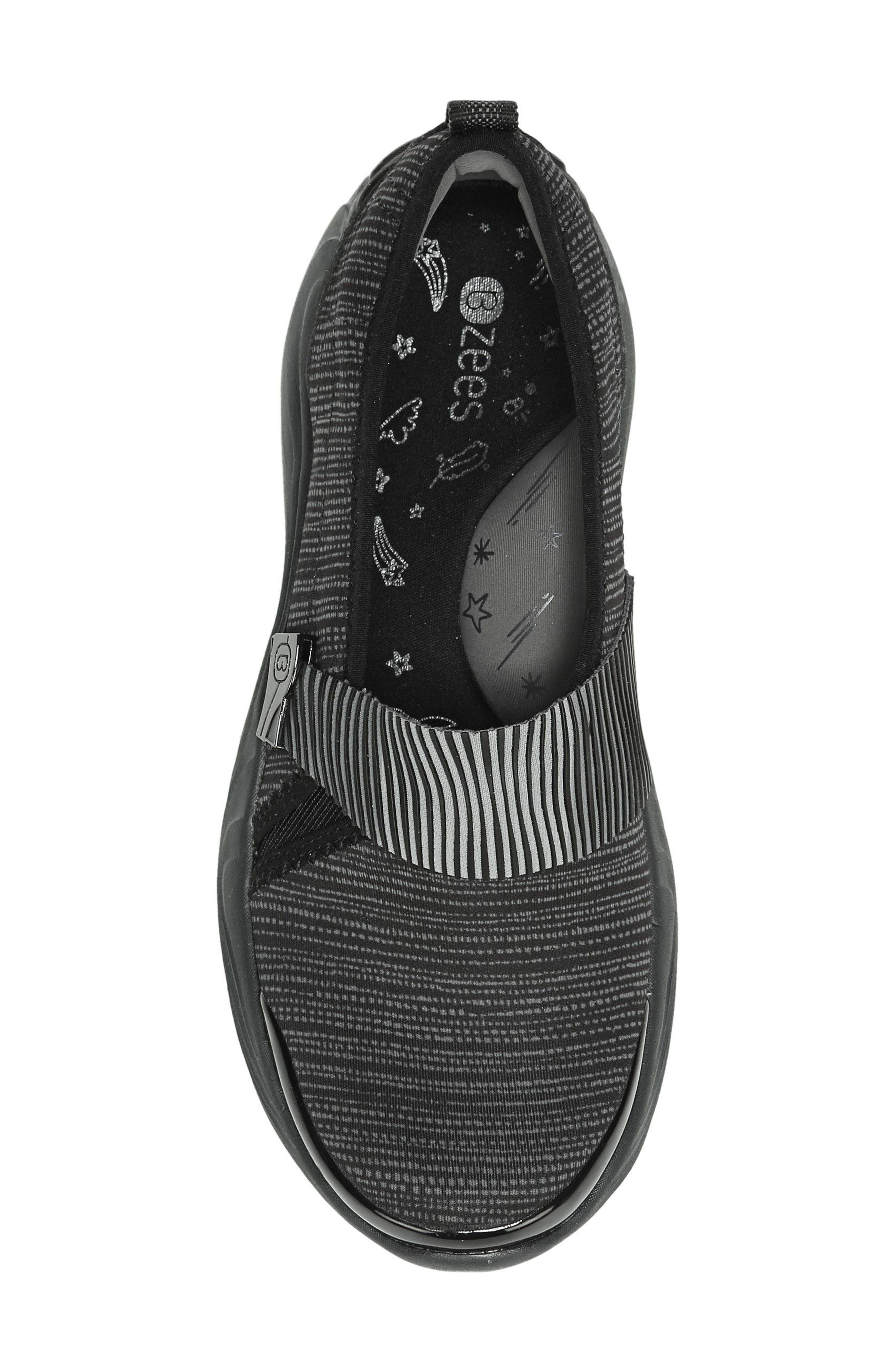 Tanza Slip-On,                             Alternate thumbnail 5, color,                             Black Fabric