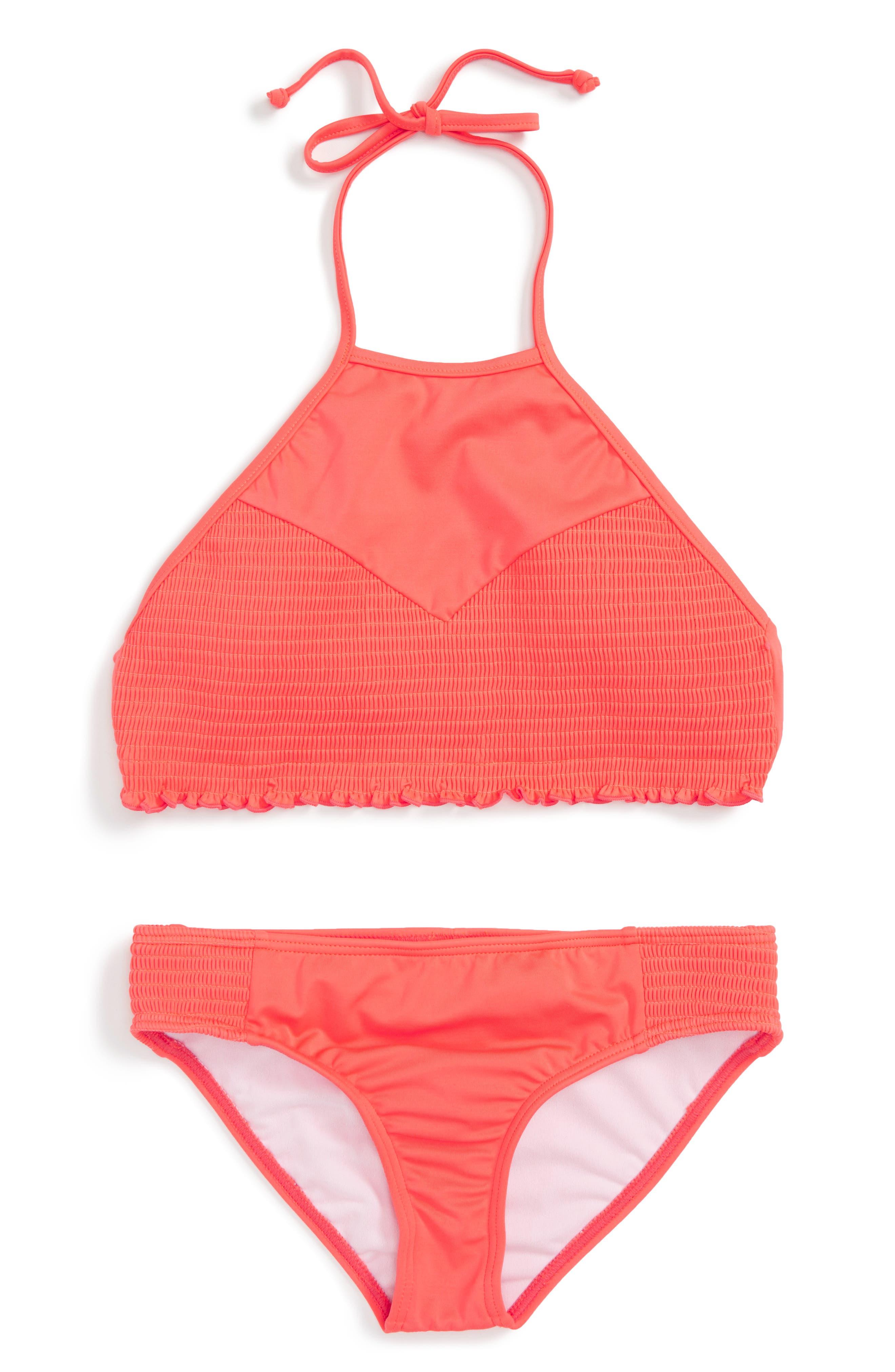 Billabong Smocked Two-Piece Swimsuit (Little Girls & Big Girls)