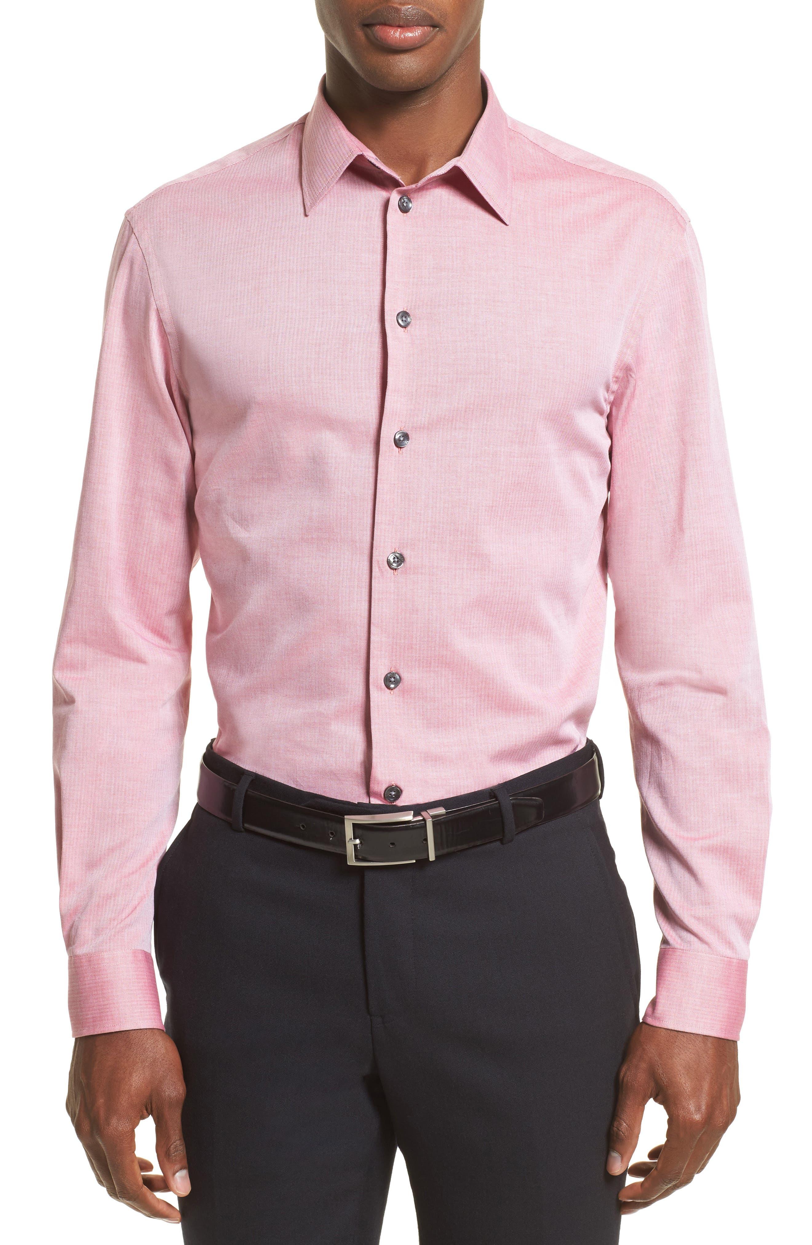 Armani Collezioni Herringbone Sport Shirt