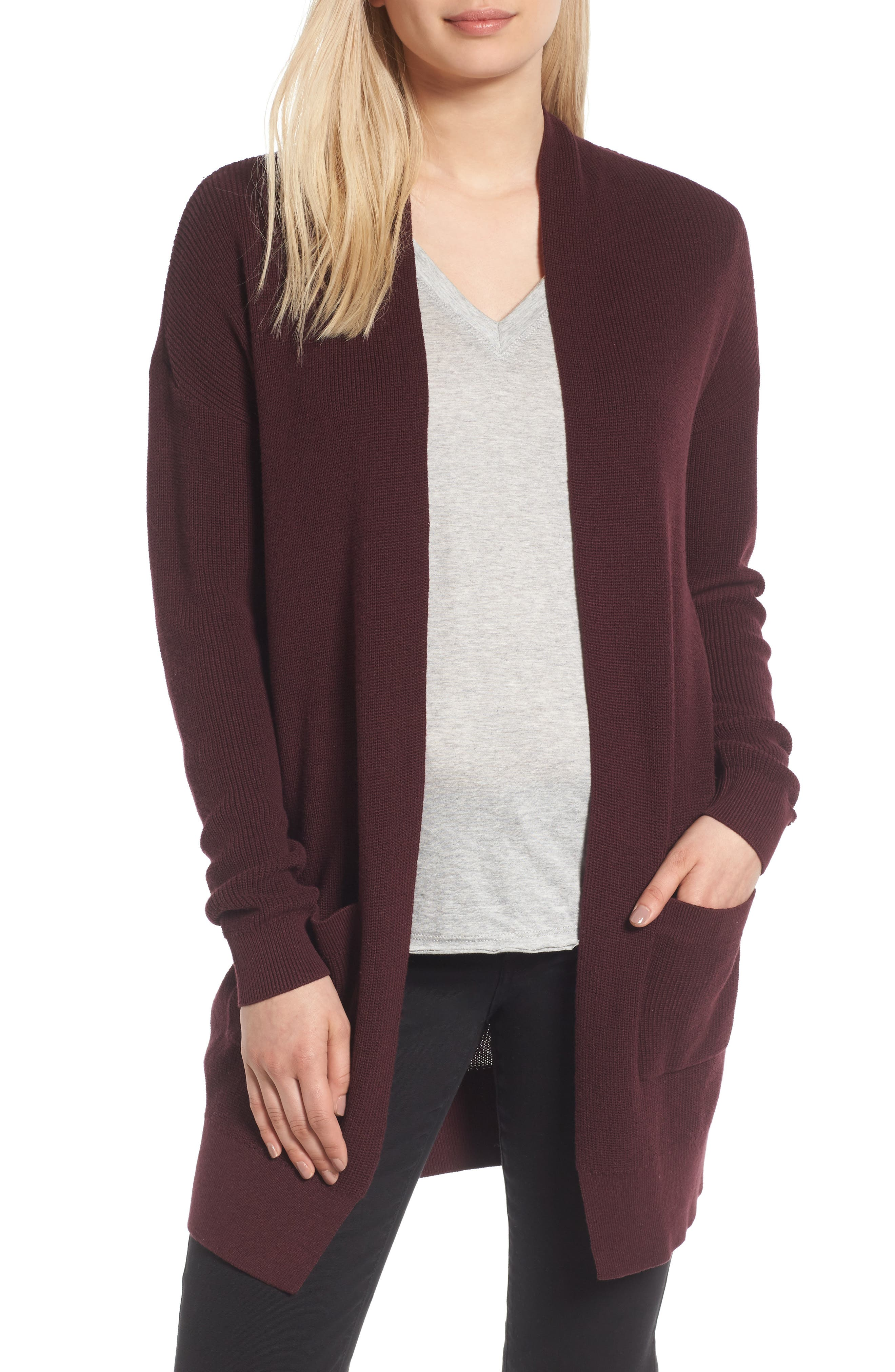 BP. Lightweight Rib Stitch Cardigan