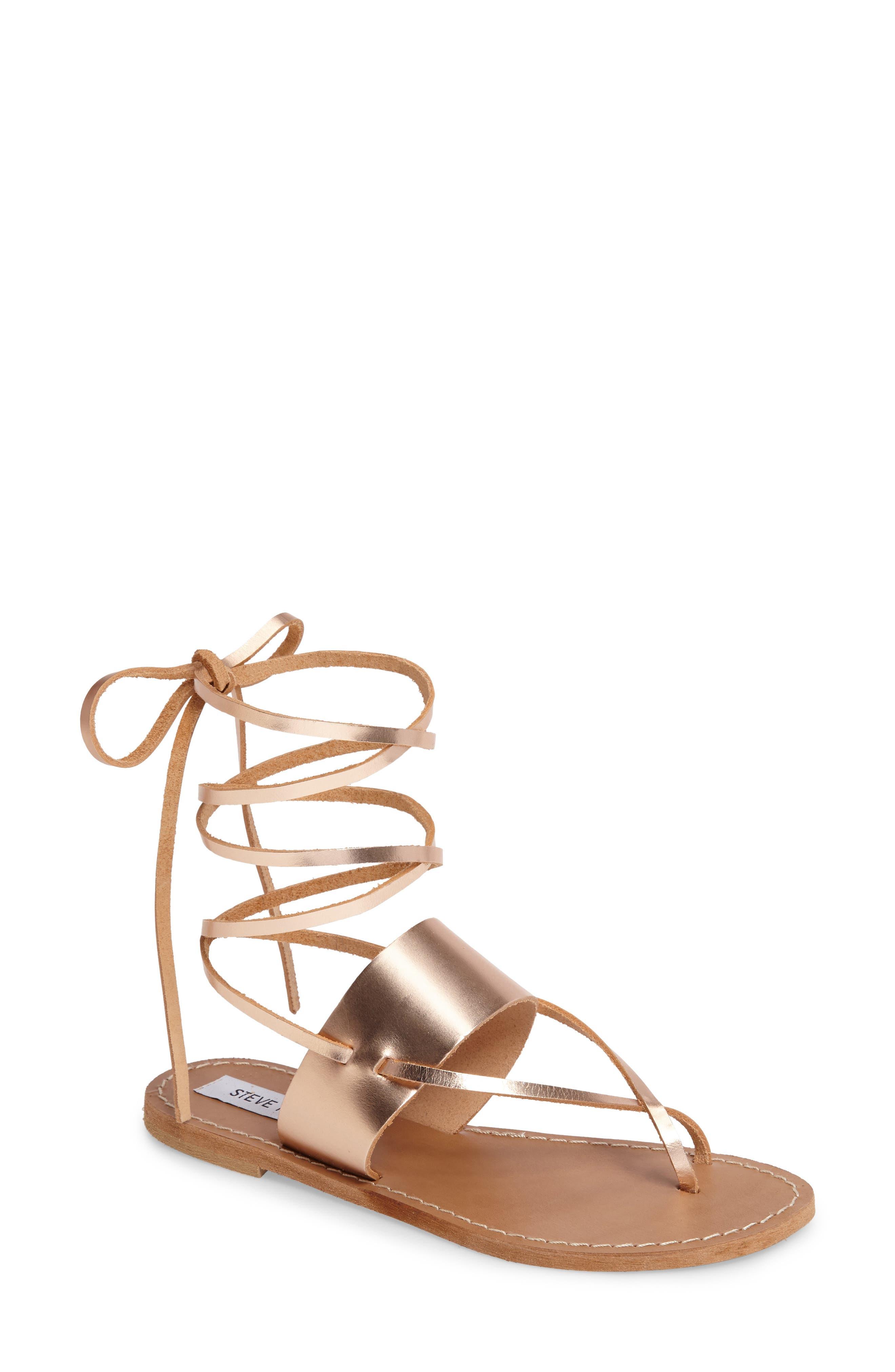 Alternate Image 1 Selected - Steve Madden Bianca Lace-Up Sandal (Women)