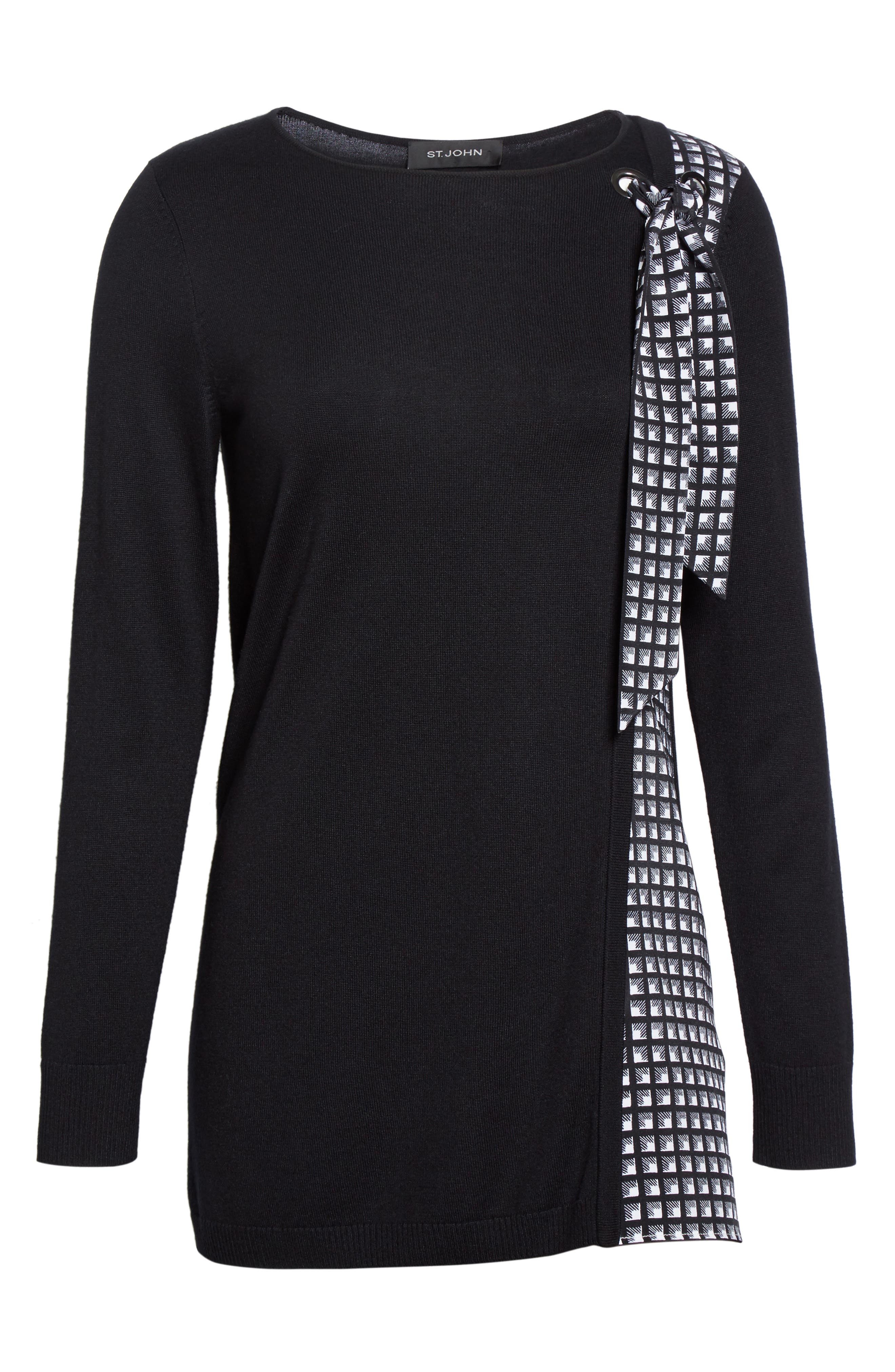 Alternate Image 6  - St. John Collection Asymmetrical Jersey Knit Sweater
