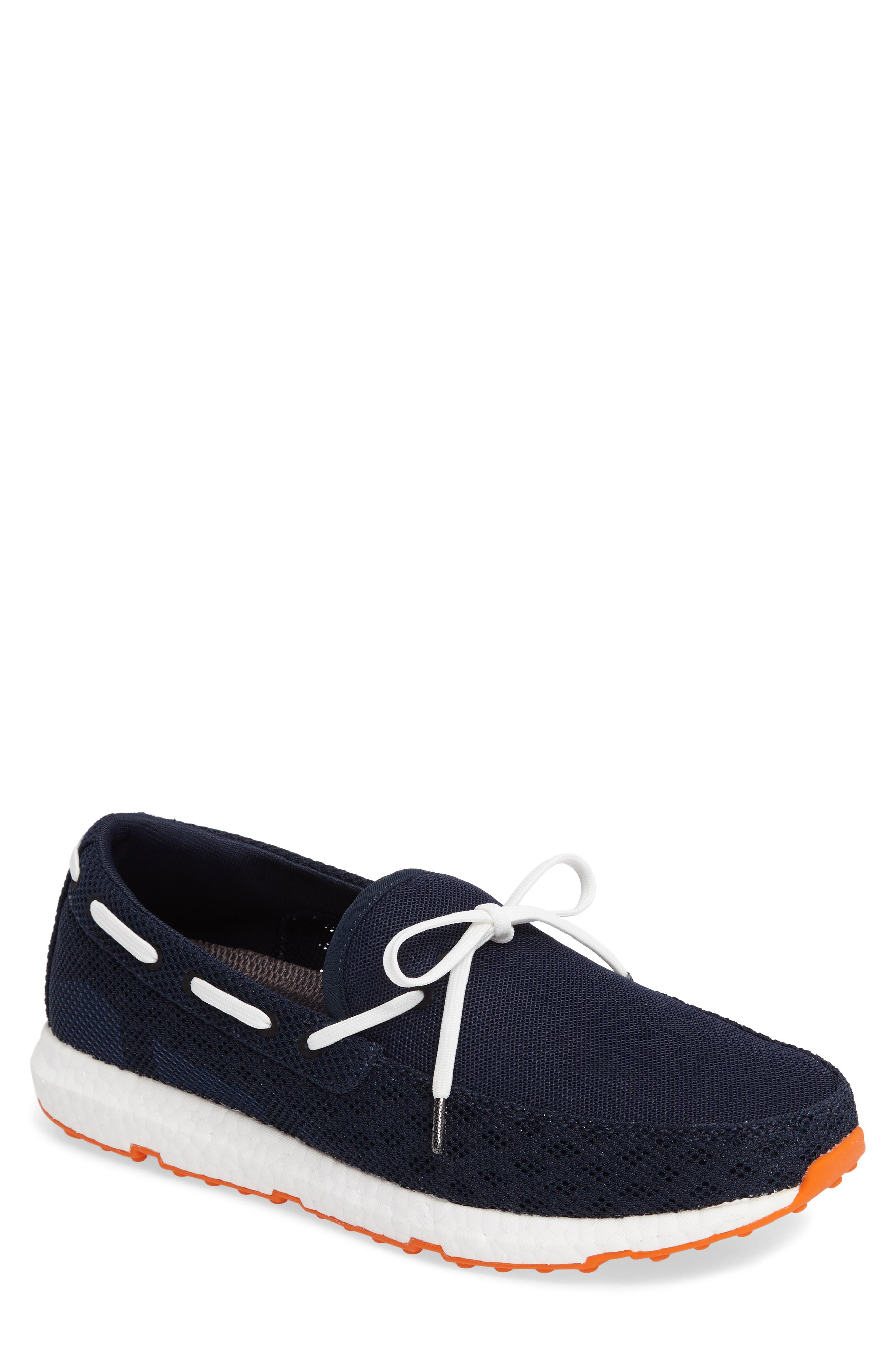 Breeze Loafer,                             Main thumbnail 1, color,                             Navy/ Orange Fabric