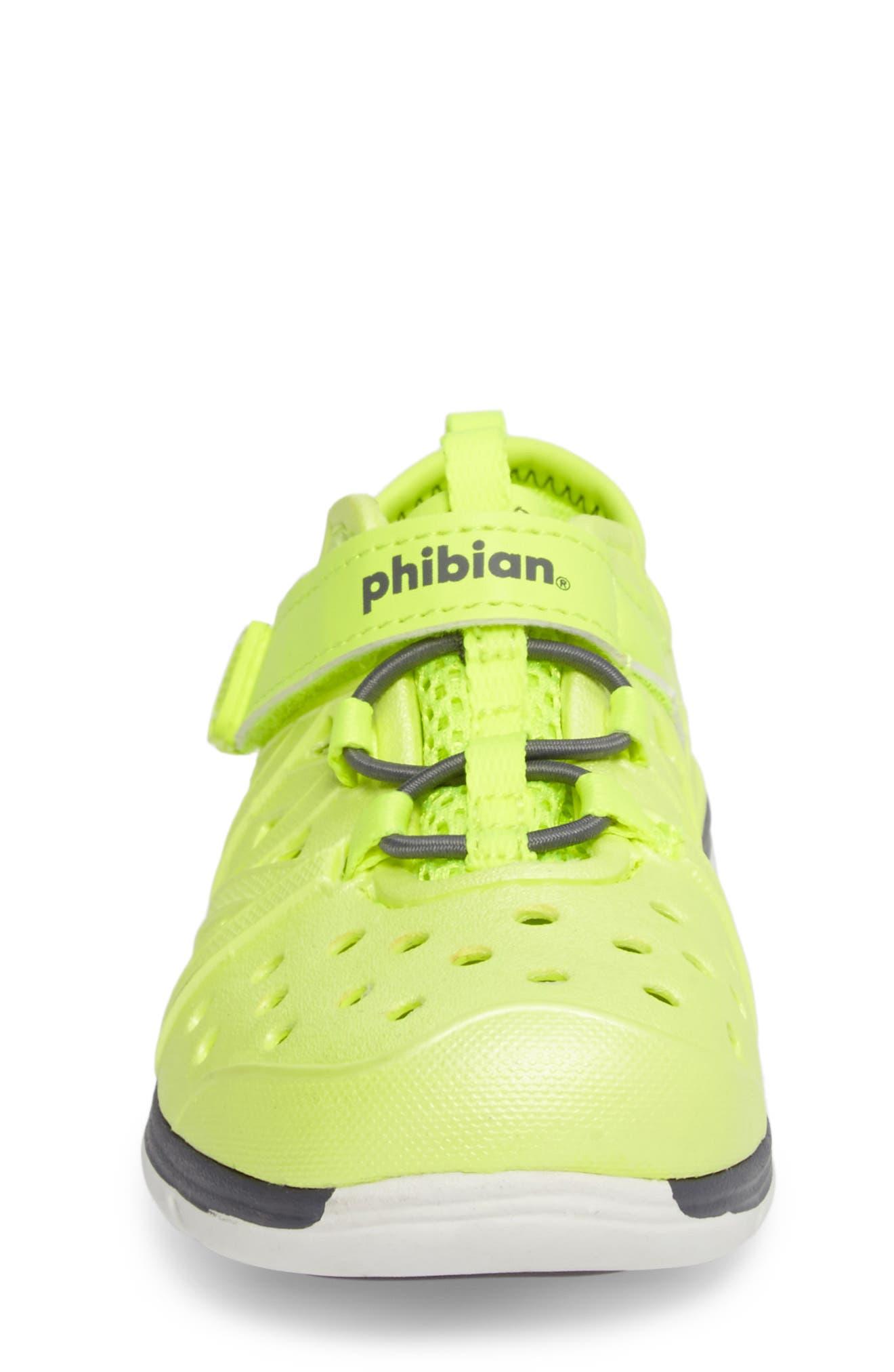 Made2Play<sup>®</sup> Phibian Sneaker,                             Alternate thumbnail 4, color,                             Citron Metallic