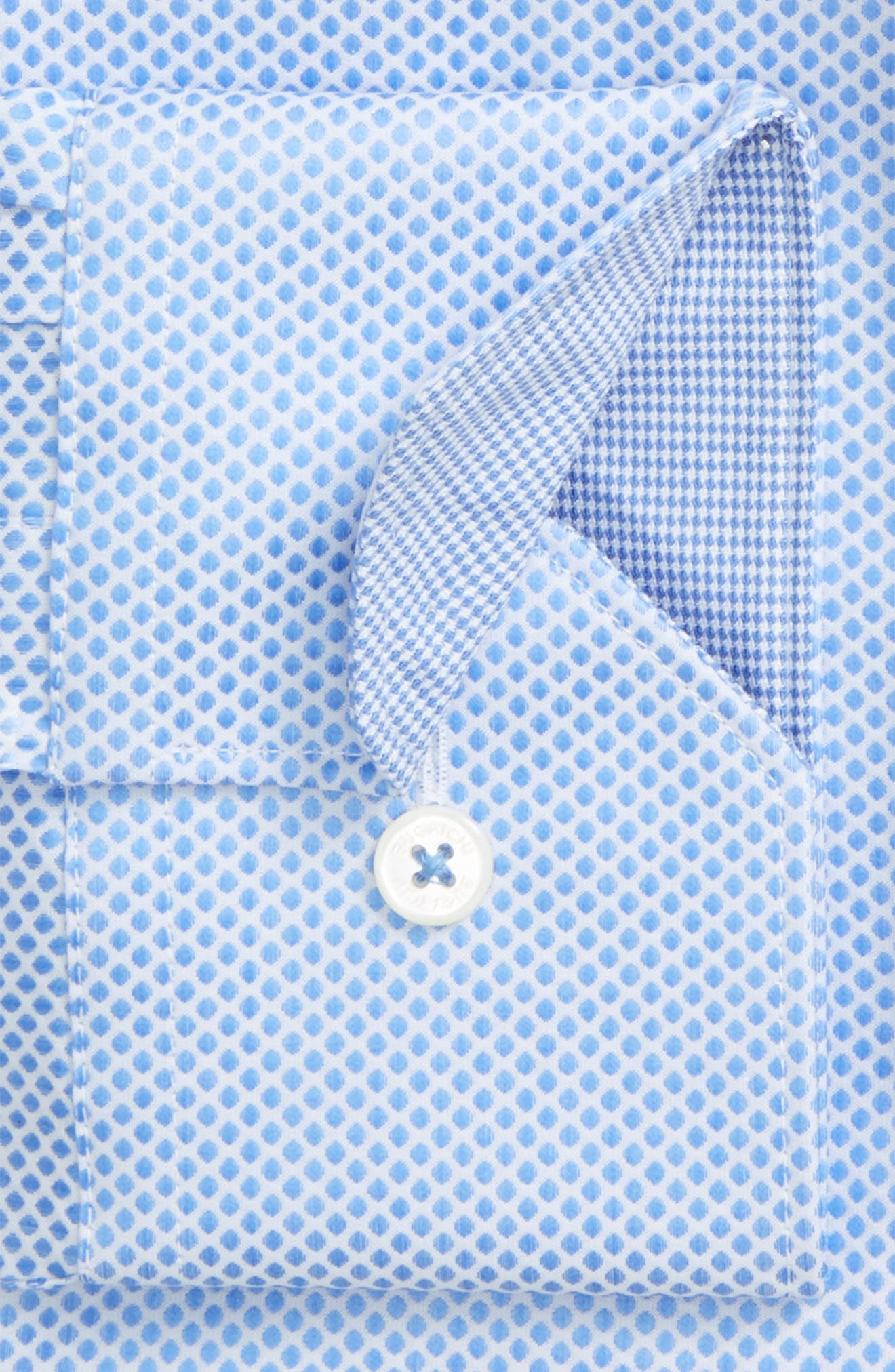 Alternate Image 2  - Bugatchi Trim Fit Dot Dress Shirt