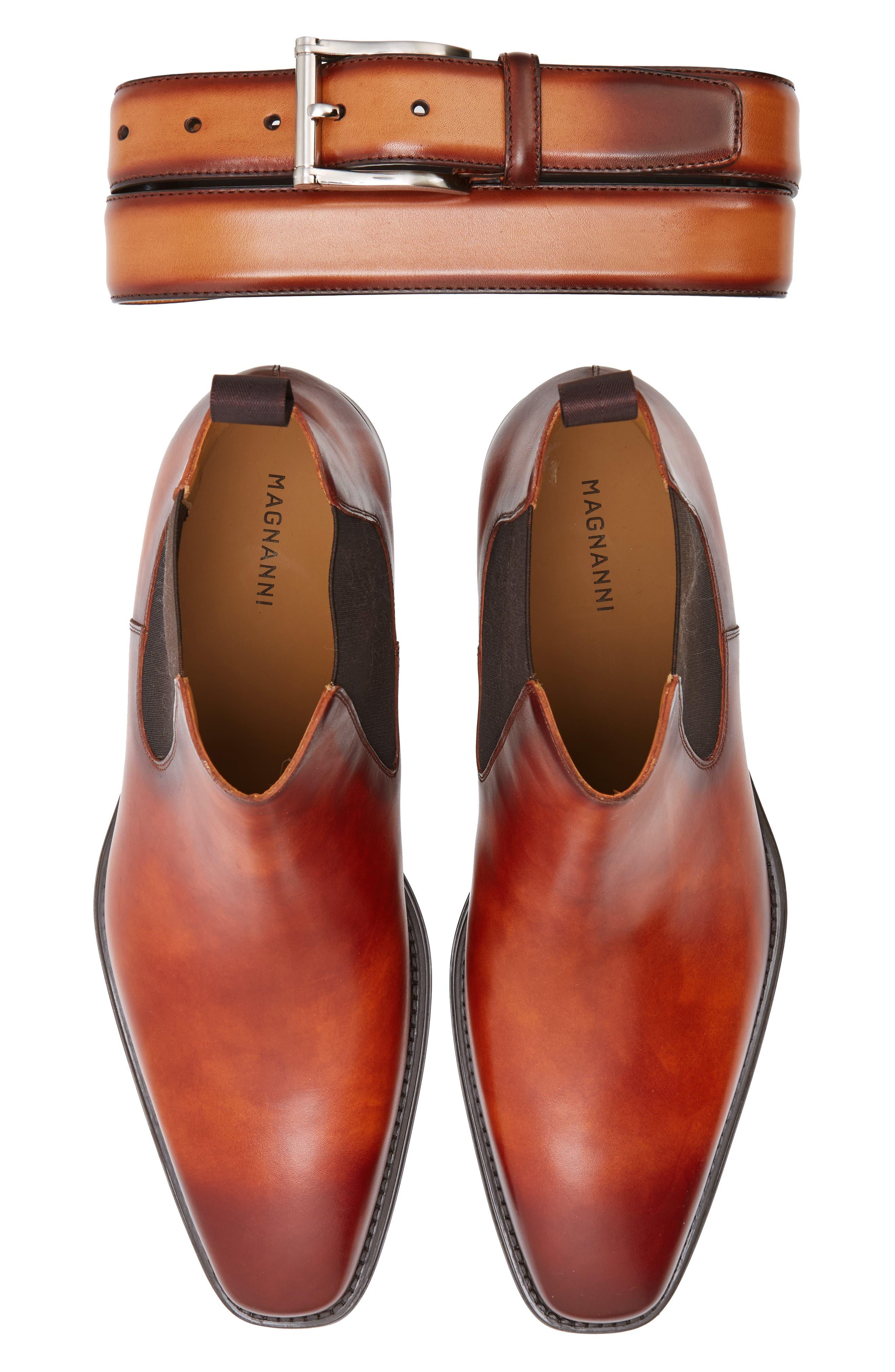 'Sean' Chelsea Boot,                             Alternate thumbnail 5, color,                             Cognac