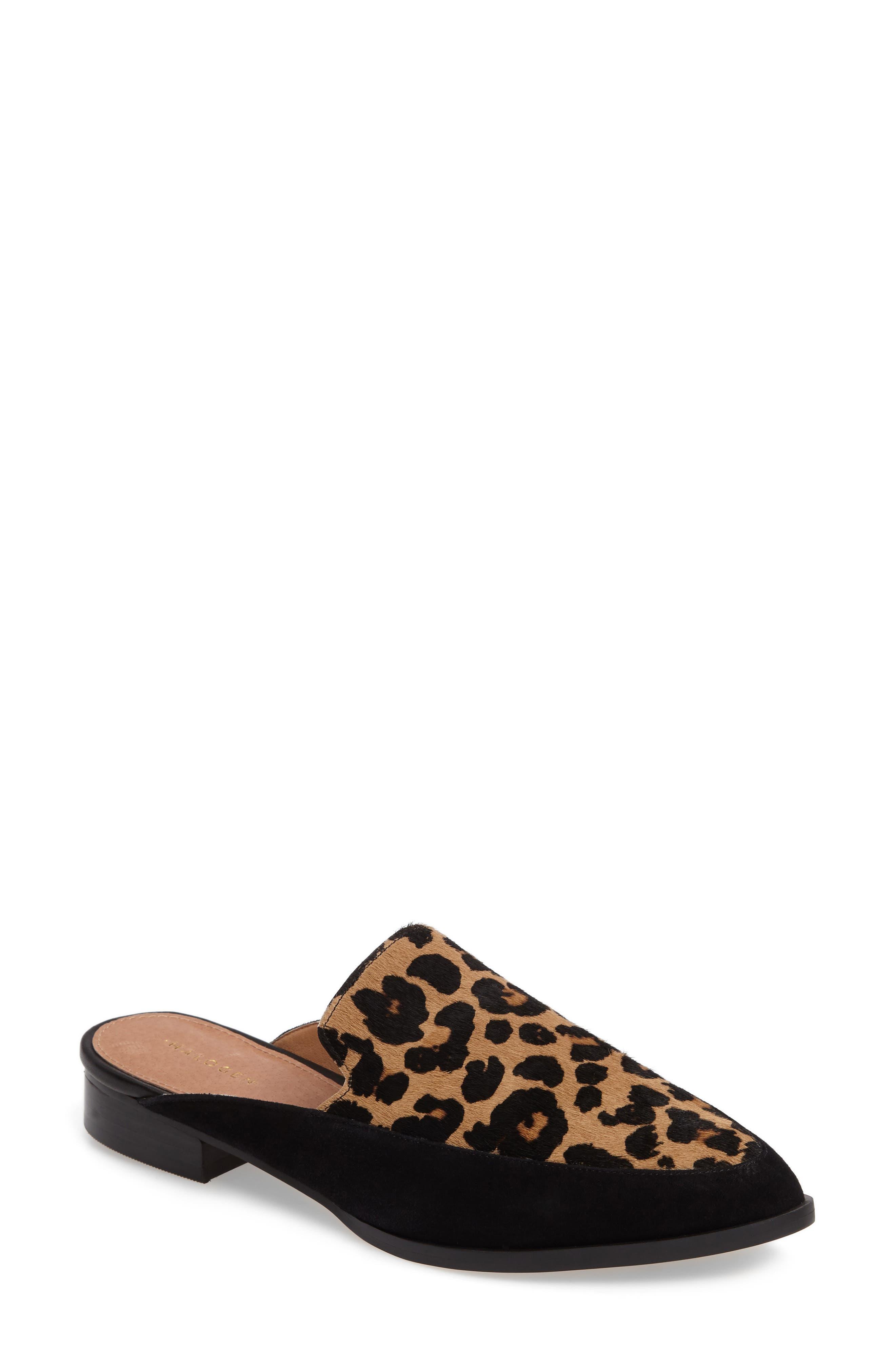 Main Image - Halogen® Corbin Genuine Calf Hair Slide Loafer (Women)