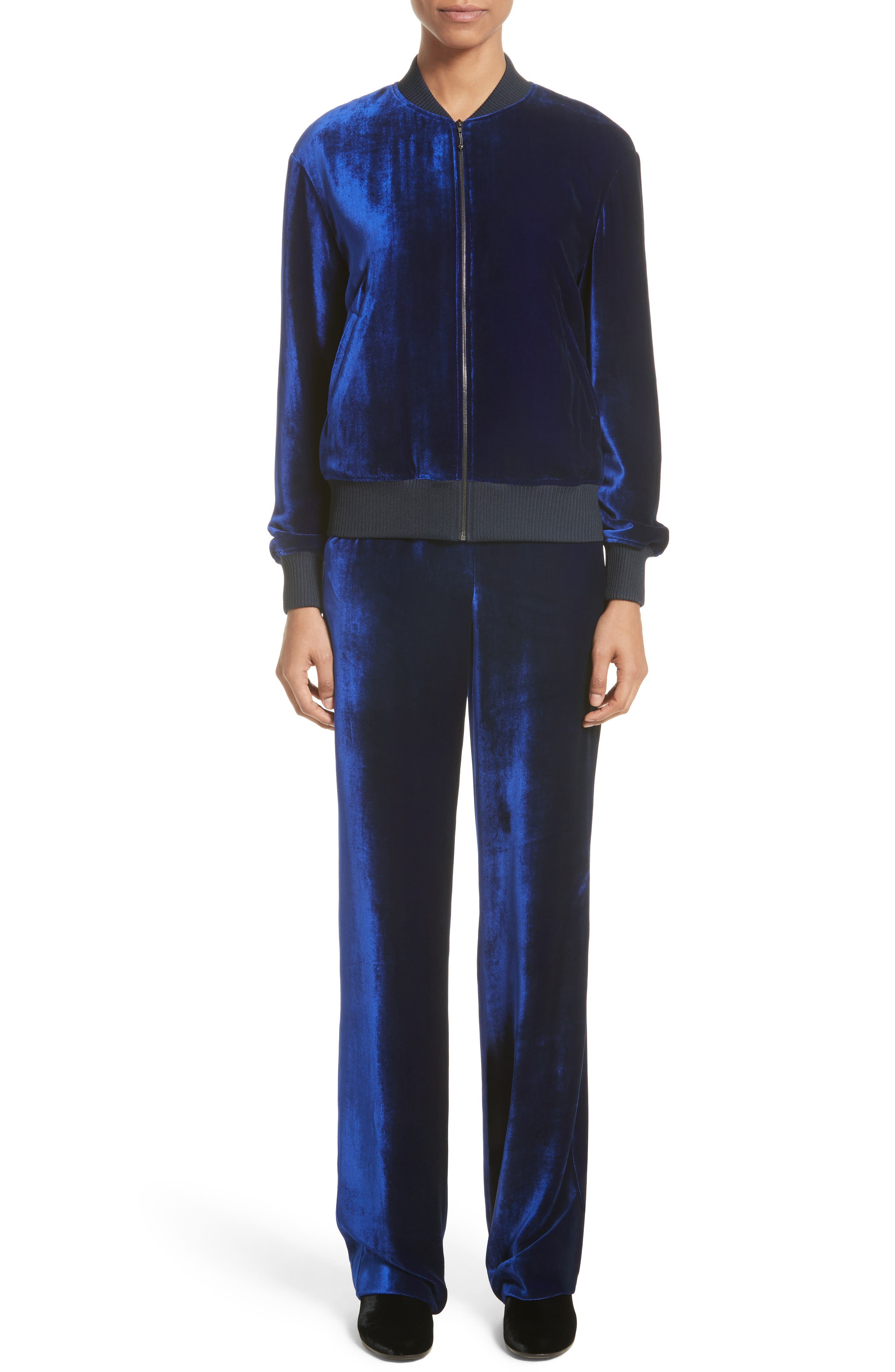 Alternate Image 9  - St. John Collection Velvet Wide Leg Pants