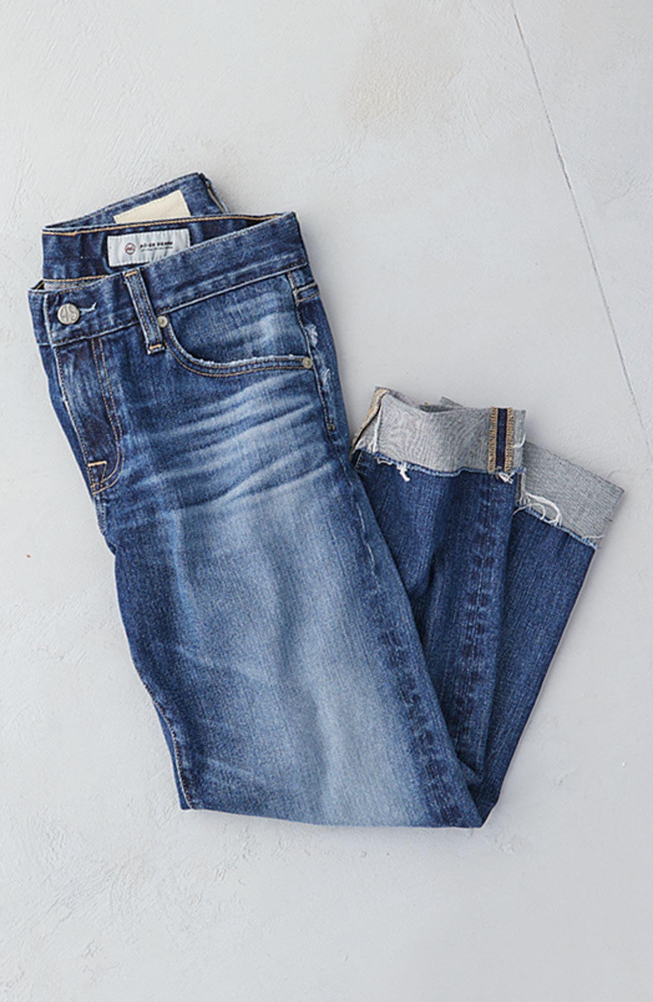 Alternate Image 9  - AG The Ex Boyfriend Crop Jeans (12 Years Blue Aura)