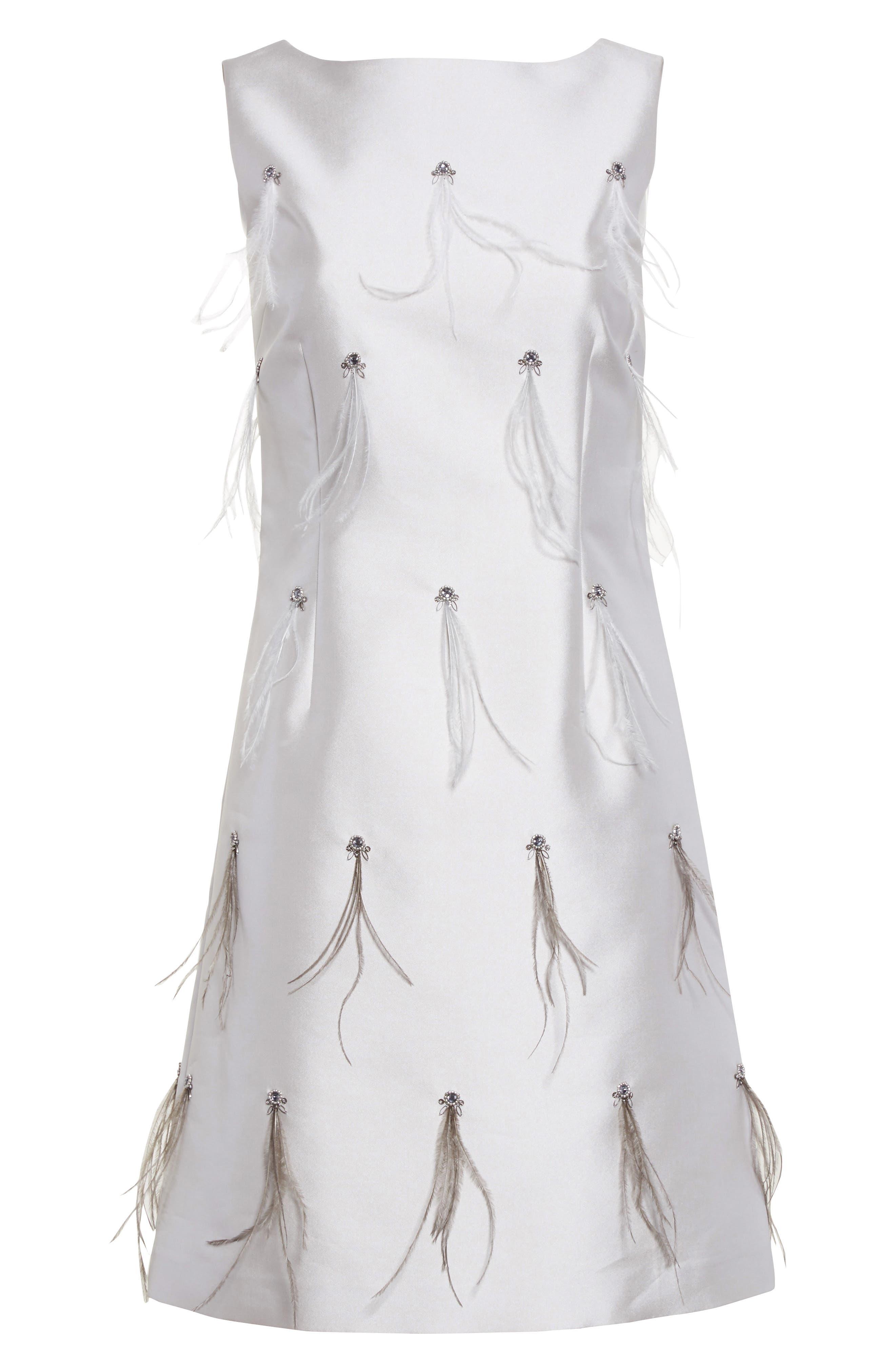 Alternate Image 6  - St. John Collection Mikado Embellished A-Line Dress