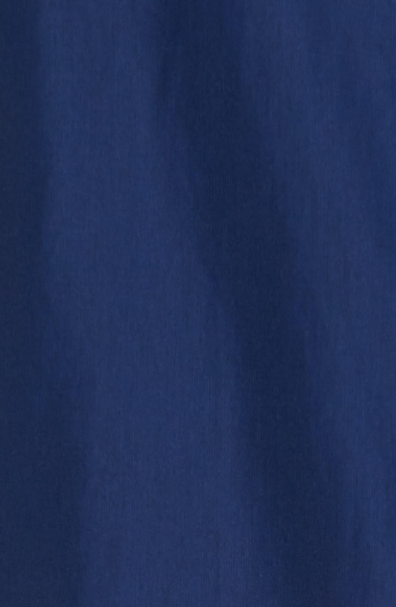 Austin Cotton Blend Raincoat,                             Alternate thumbnail 5, color,                             Royal Blue