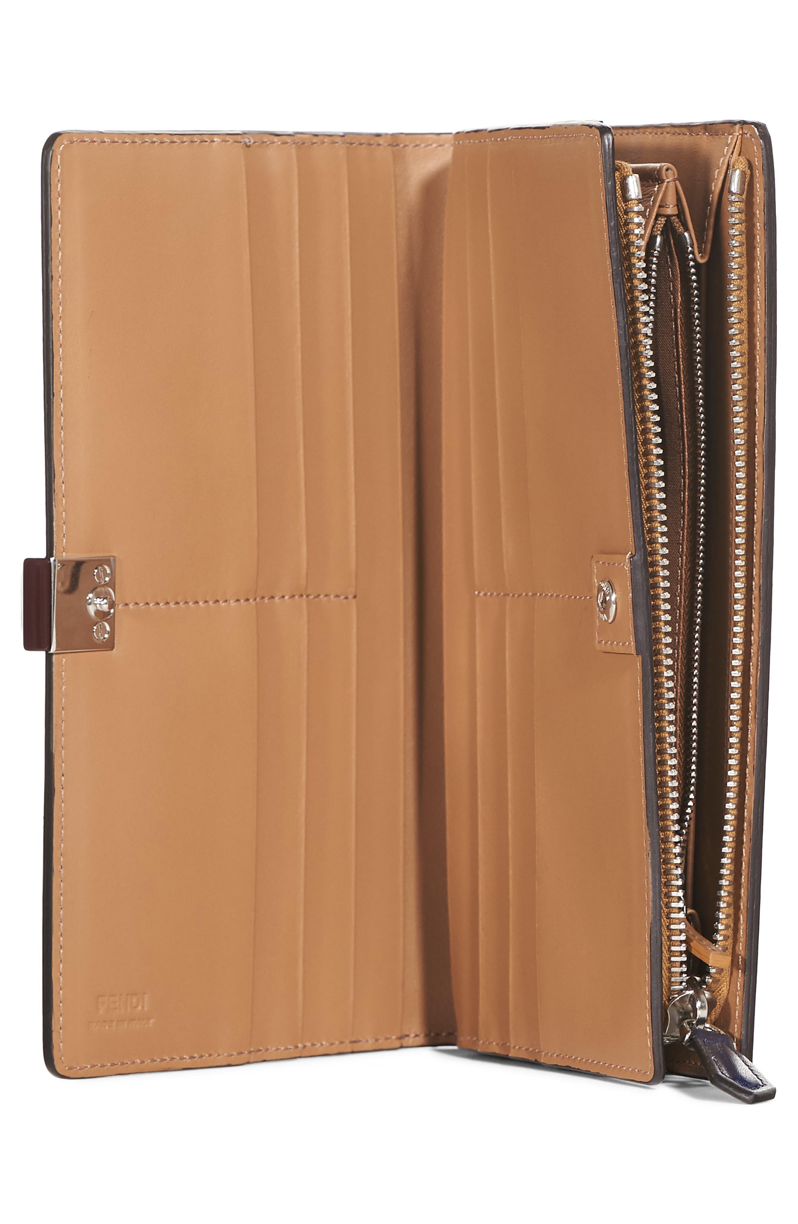 Alternate Image 2  - Fendi Studded Continental Leather Wallet