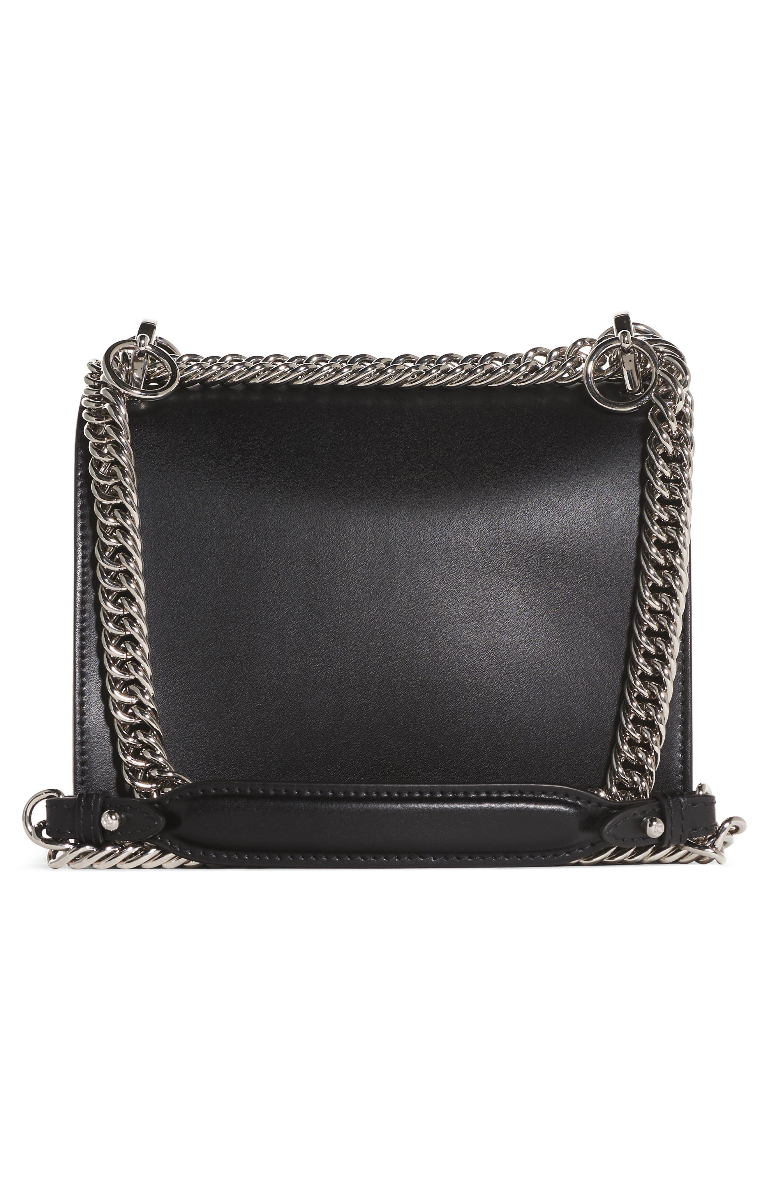 Kan I Monster Leather Shoulder Bag,                             Alternate thumbnail 2, color,                             Black Palladium