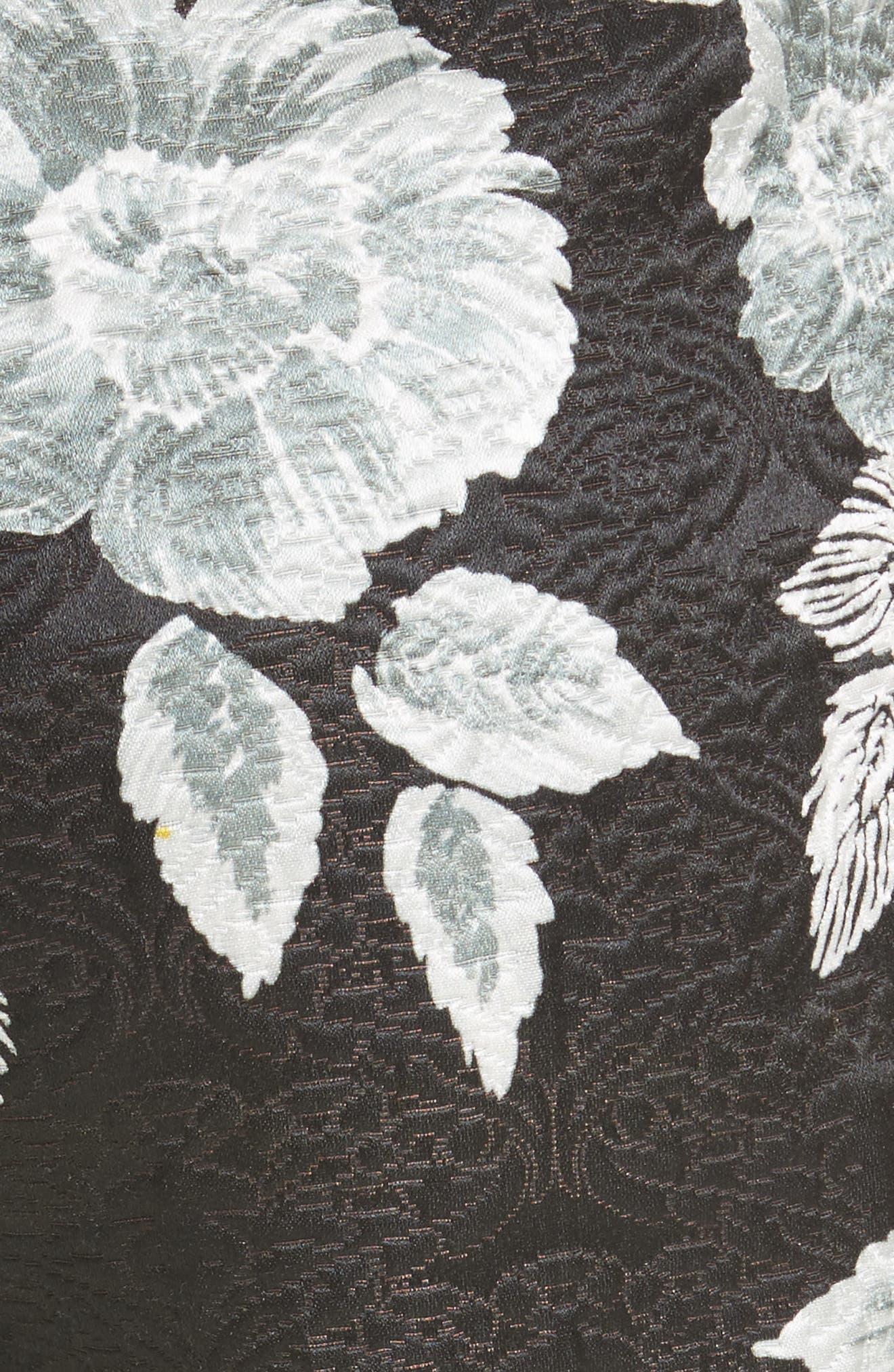 Textured Floral Print Capri Pants,                             Alternate thumbnail 6, color,                             Caviar Multi