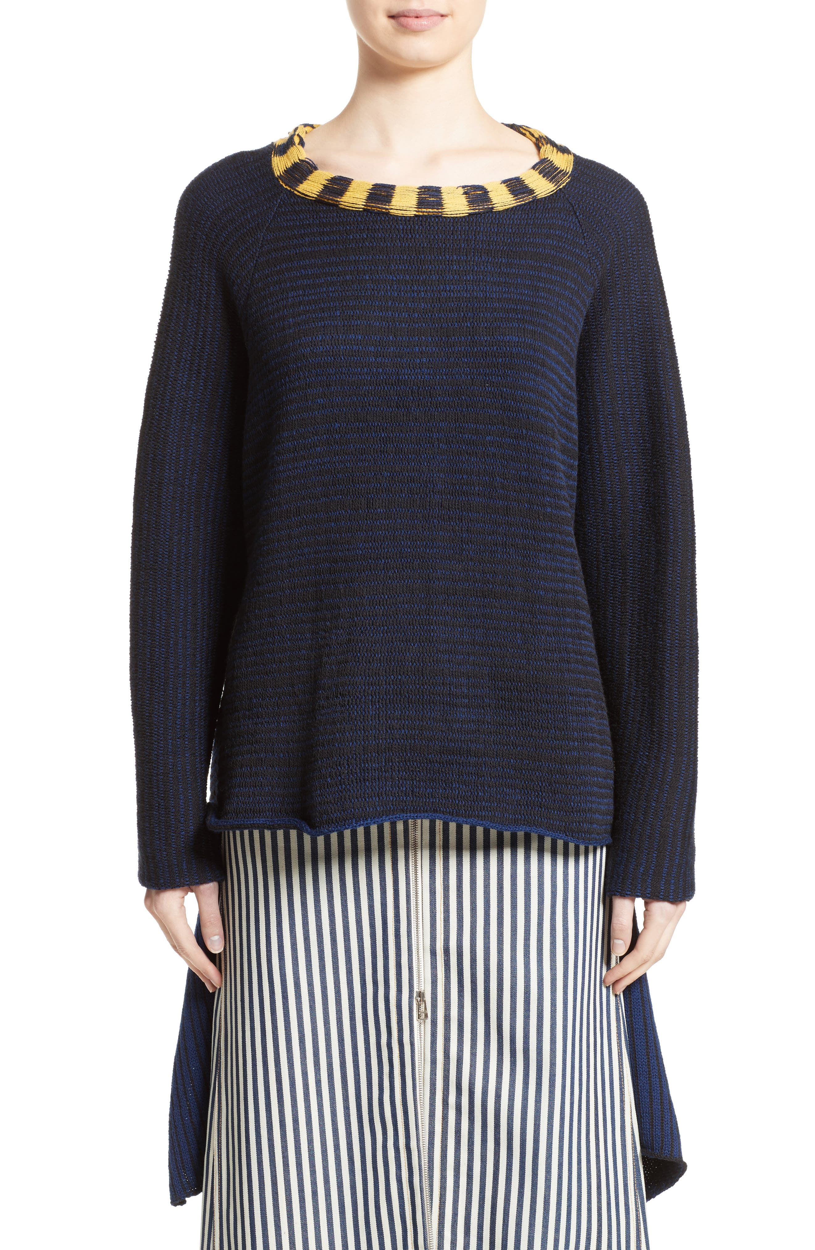 Tie Back Sweater,                         Main,                         color, Navy