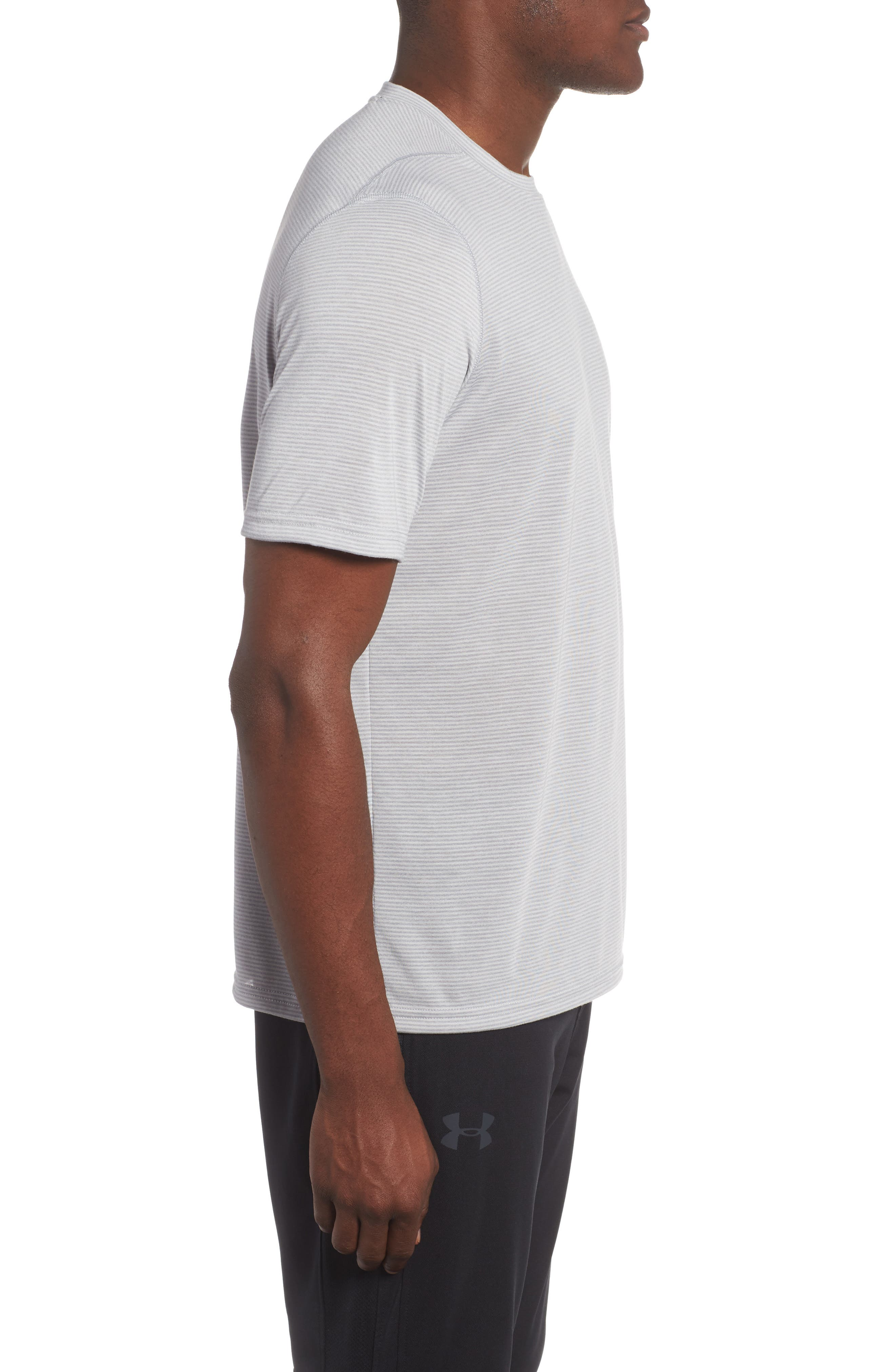 Threadborne Siro Regular Fit T-Shirt,                             Alternate thumbnail 3, color,                             Overcast Gray/ Graphite