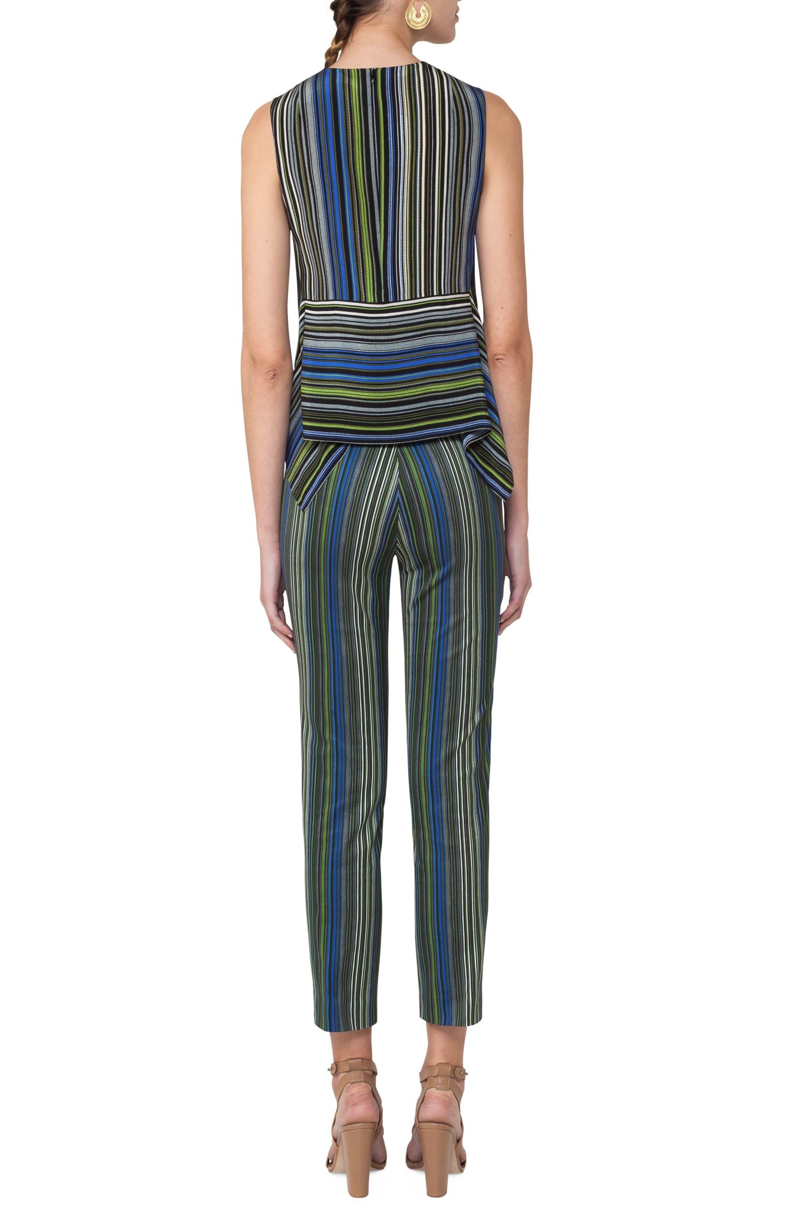 Paracas Stripe Silk Blouse,                             Alternate thumbnail 2, color,                             Multicolor Stripe