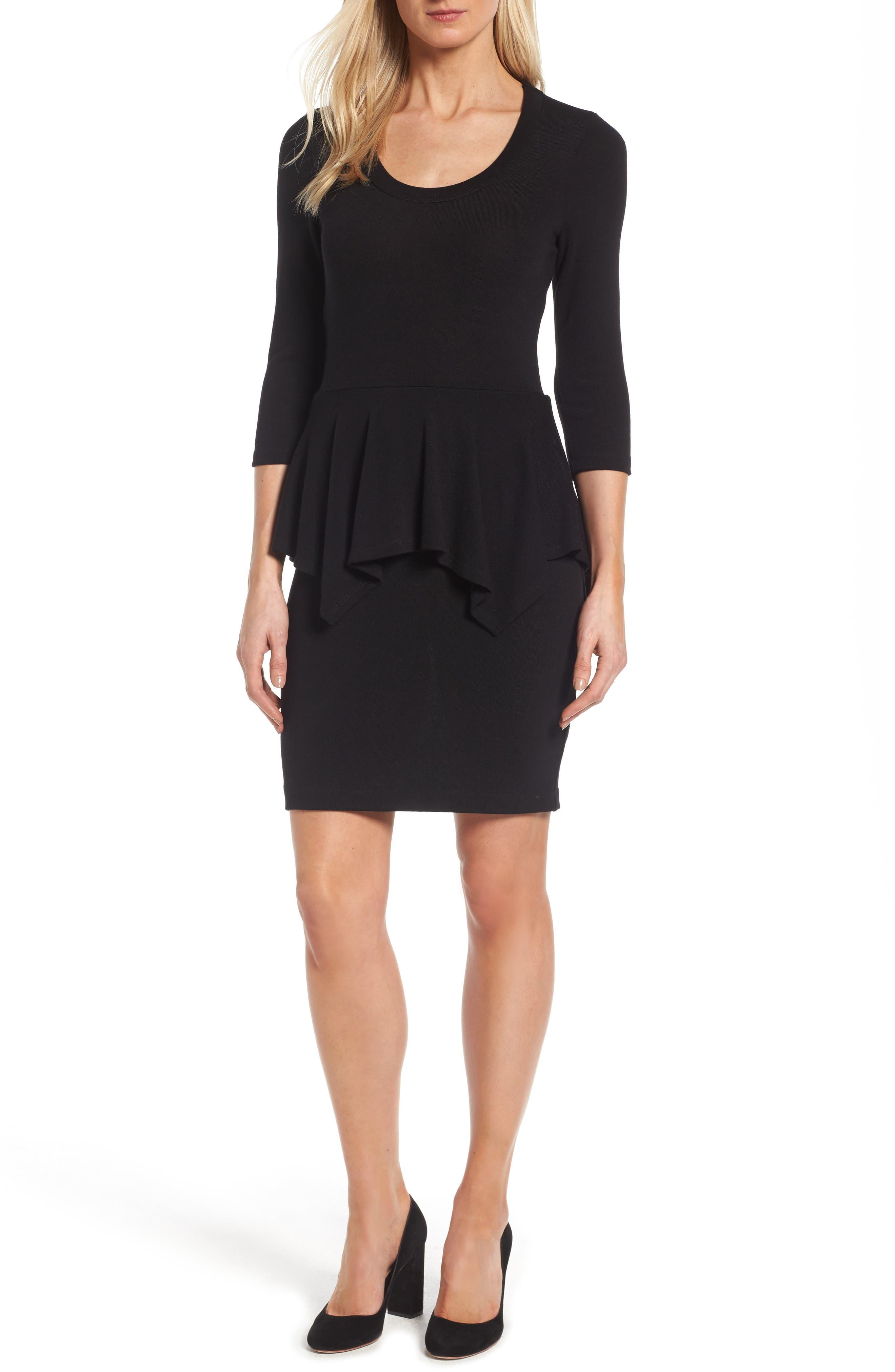 Karen Kane Peplum Knit Dress (Regular & Petite)