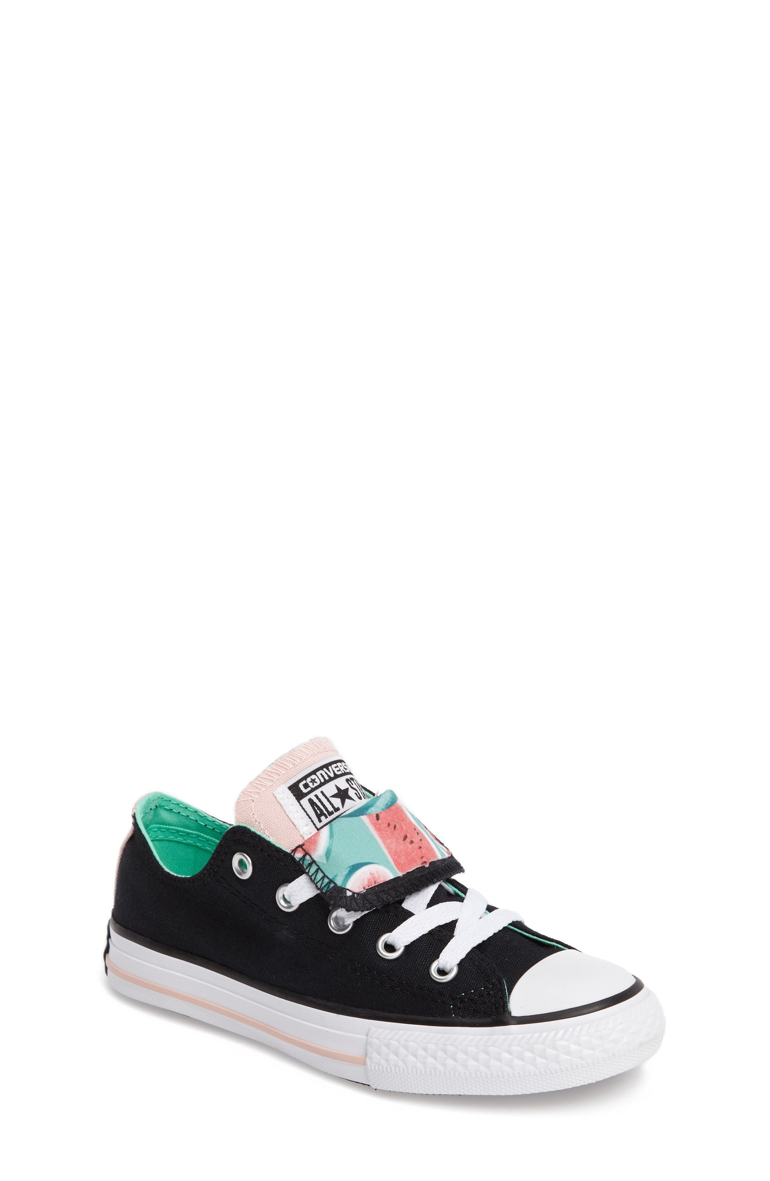 Chuck Taylor<sup>®</sup> All Star<sup>®</sup> Watermelon Print Sneaker,                             Main thumbnail 1, color,                             Black