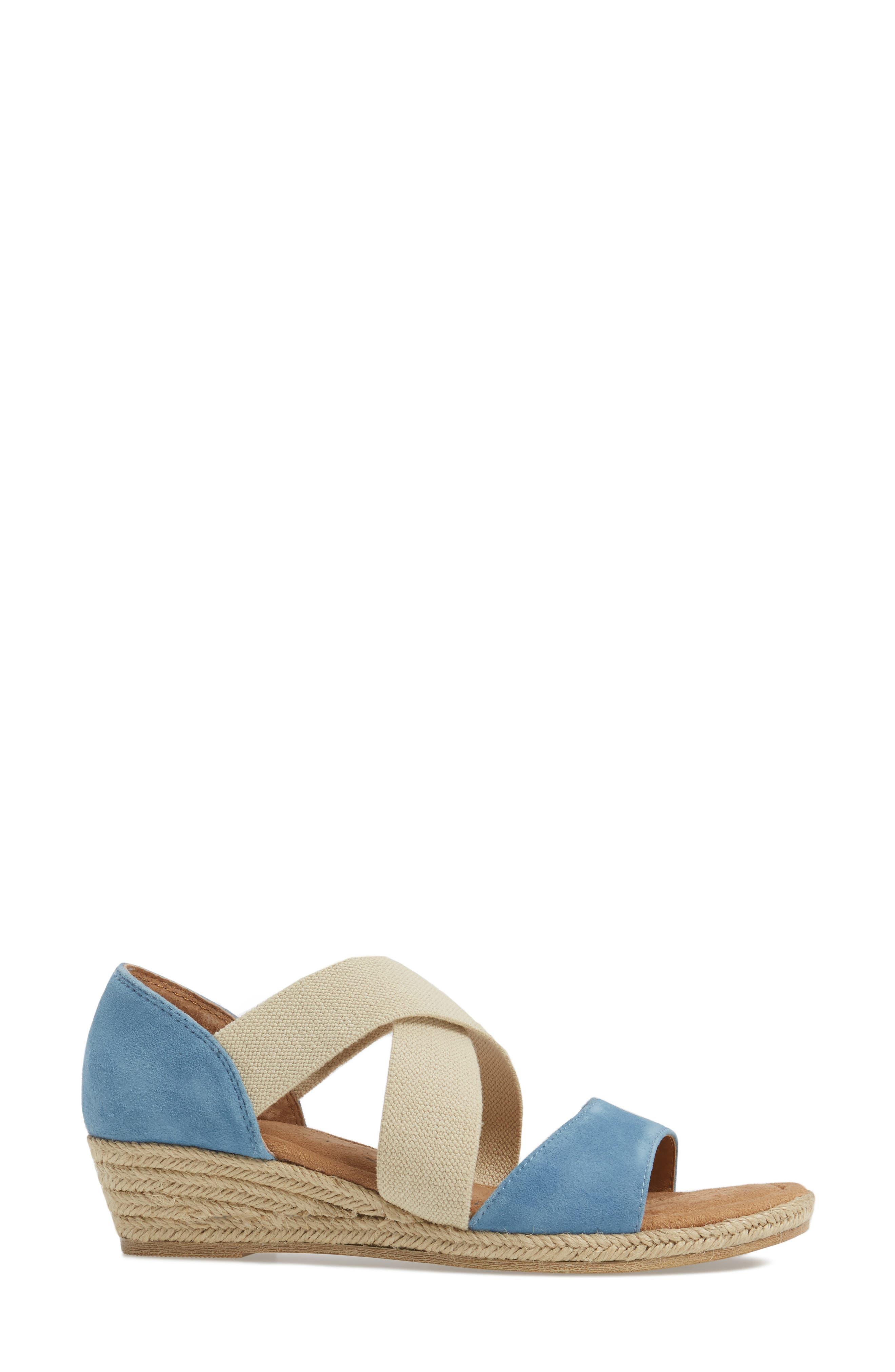 Brye Espadrille Sandal,                             Alternate thumbnail 3, color,                             Pale Blue Suede