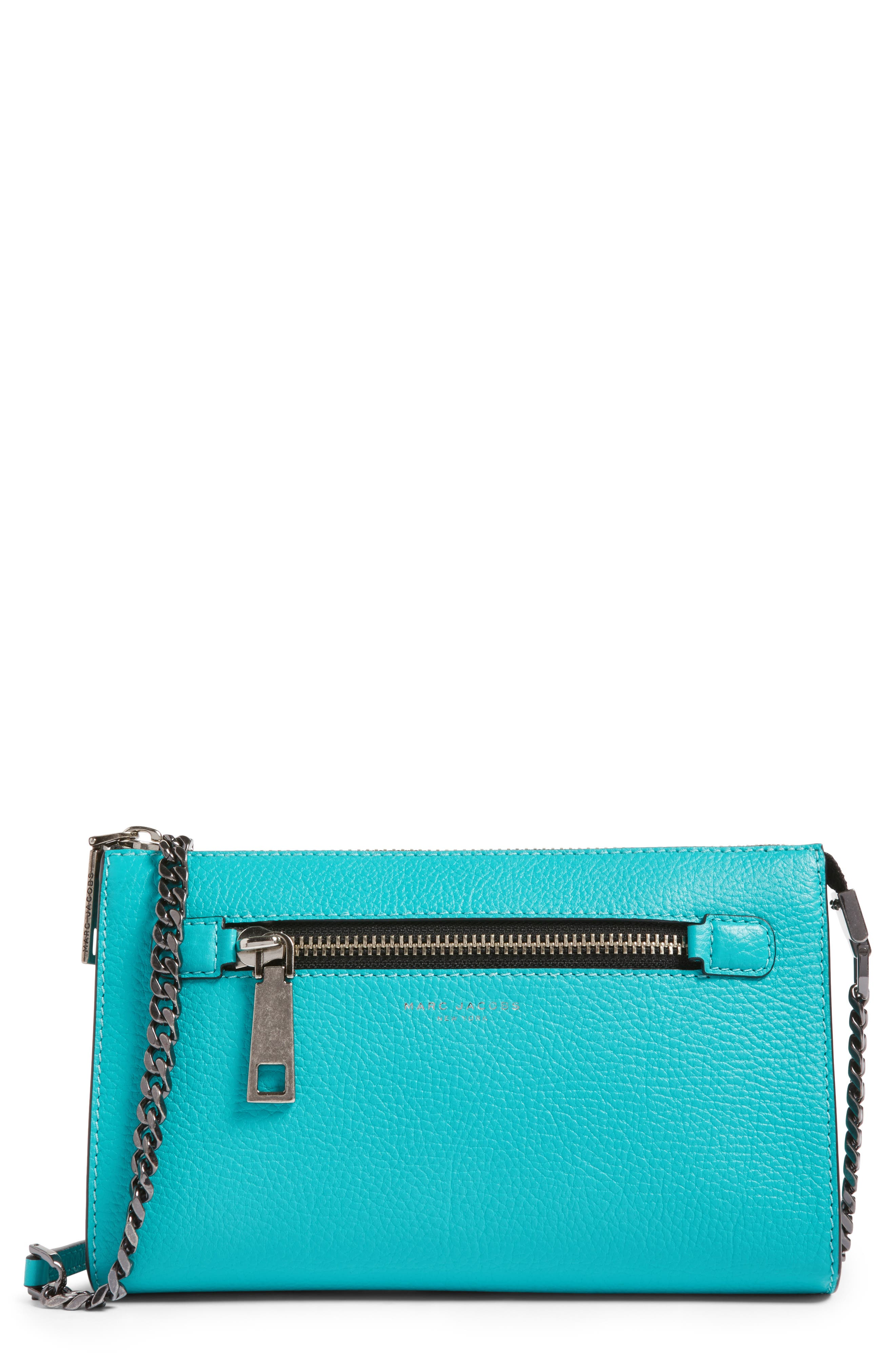 MARC JACOBS Small Gotham Leather Crossbody Wallet (Nordstrom Exclusive)