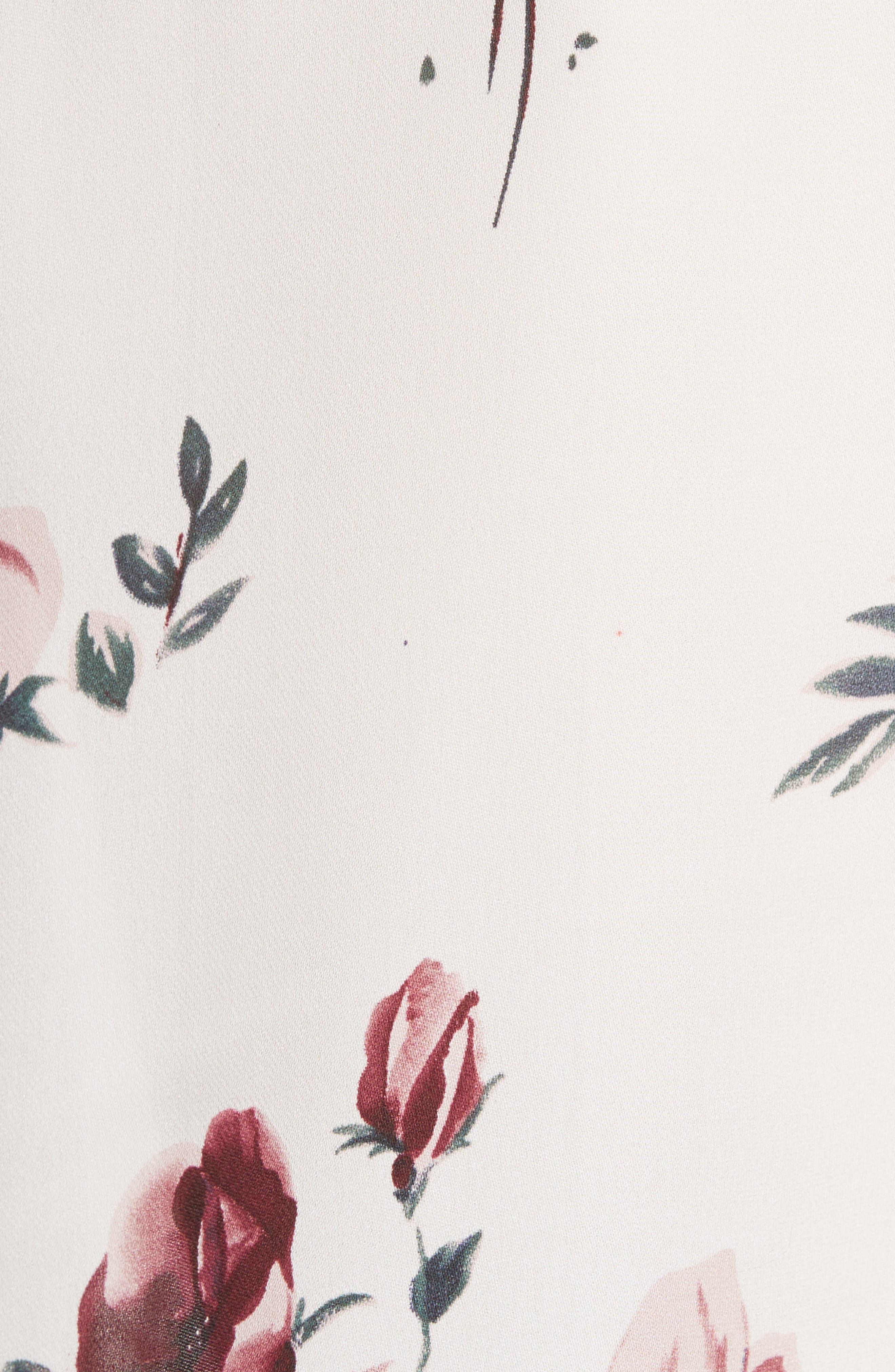 Alternate Image 5  - Joie Jayann B Ruffle Front Floral Silk Blouse