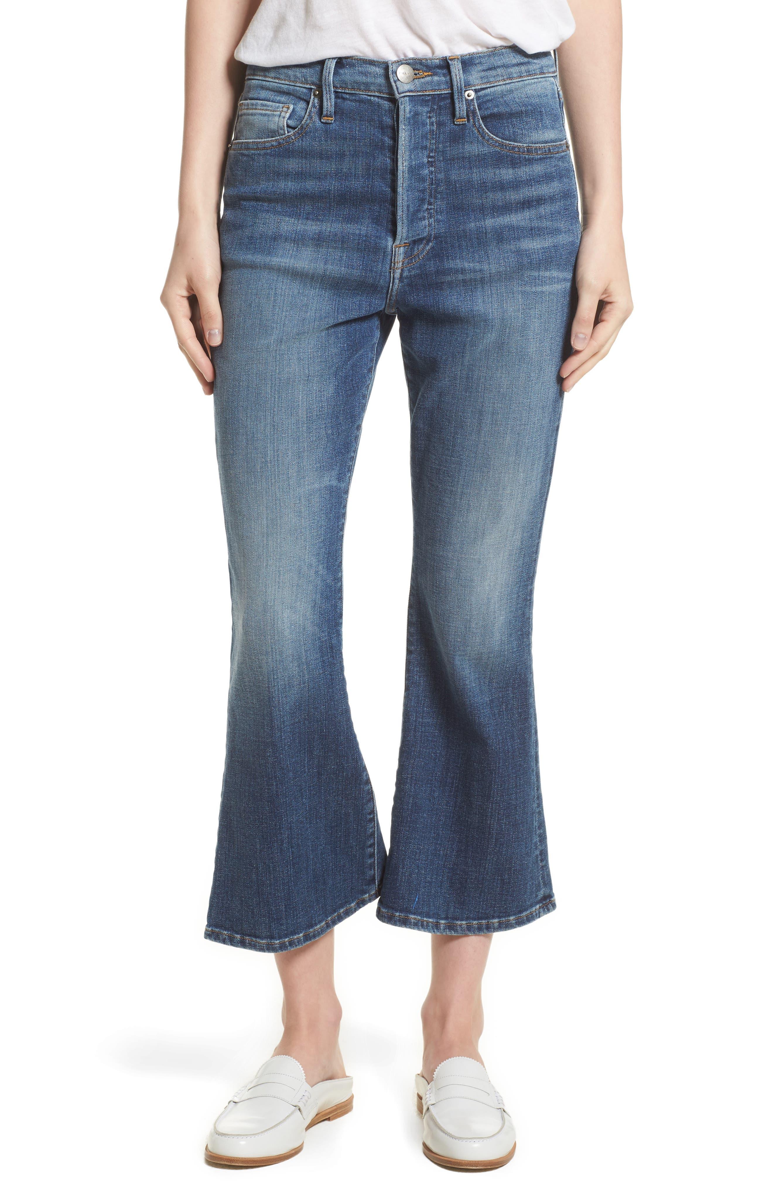 Le Crop Flare High Waist Jeans,                         Main,                         color, Sunrise Park