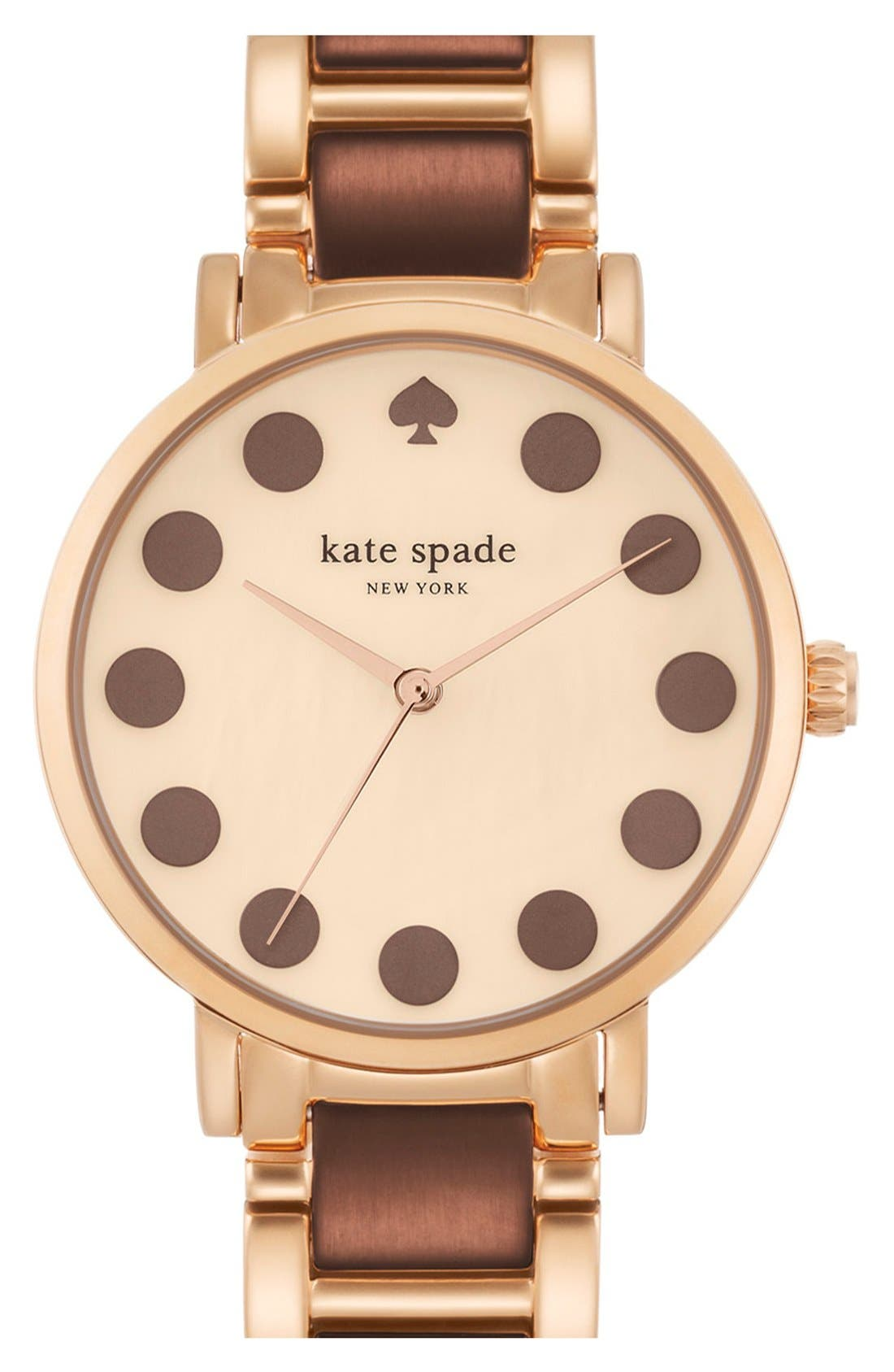 Main Image - kate spade new york 'gramercy' dot dial bracelet watch, 34mm