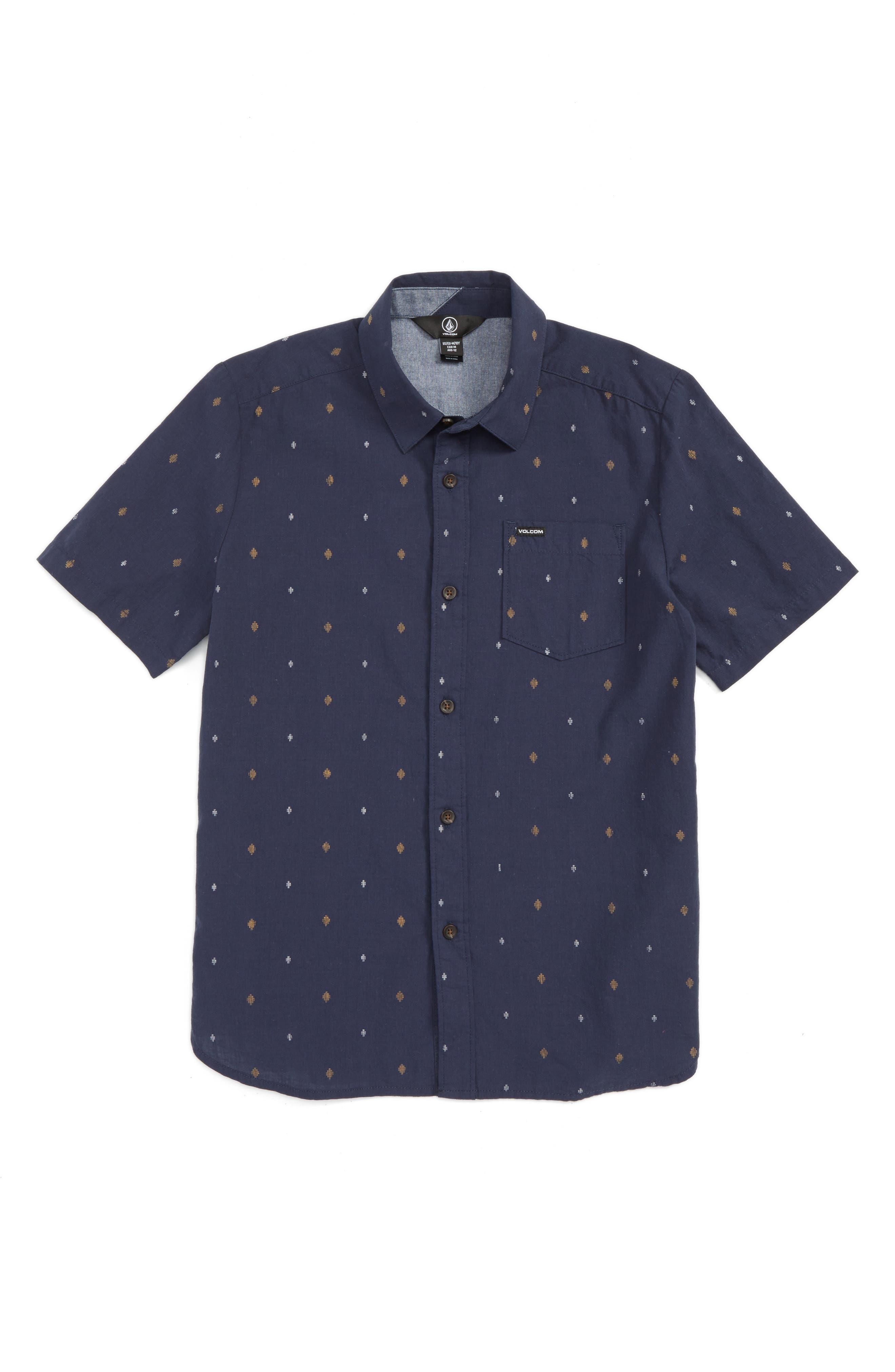Main Image - Volcom Interlude Print Woven Shirt (Toddler Boys, Little Boys & Big Boys)