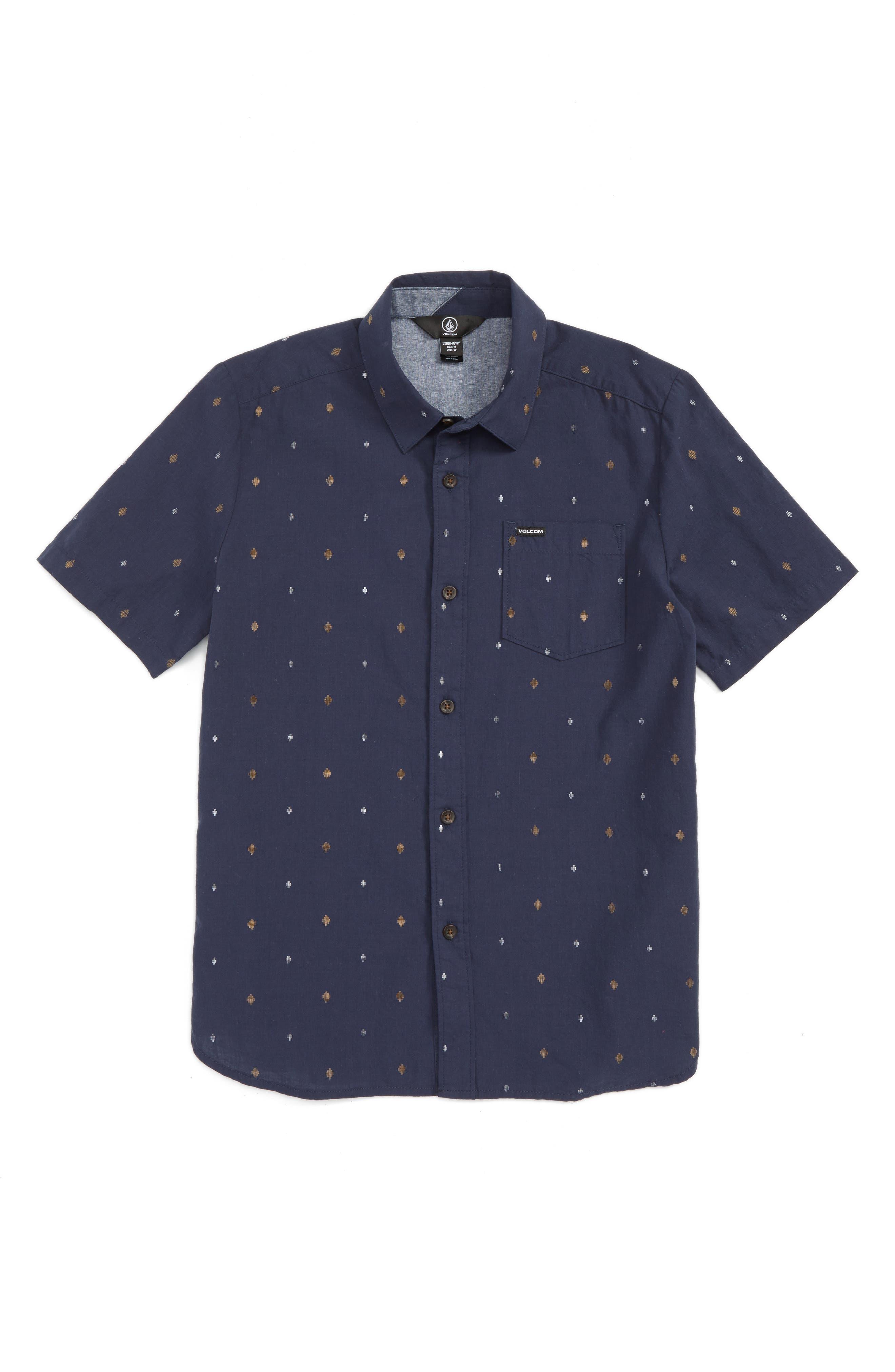 Interlude Print Woven Shirt,                         Main,                         color, Indigo