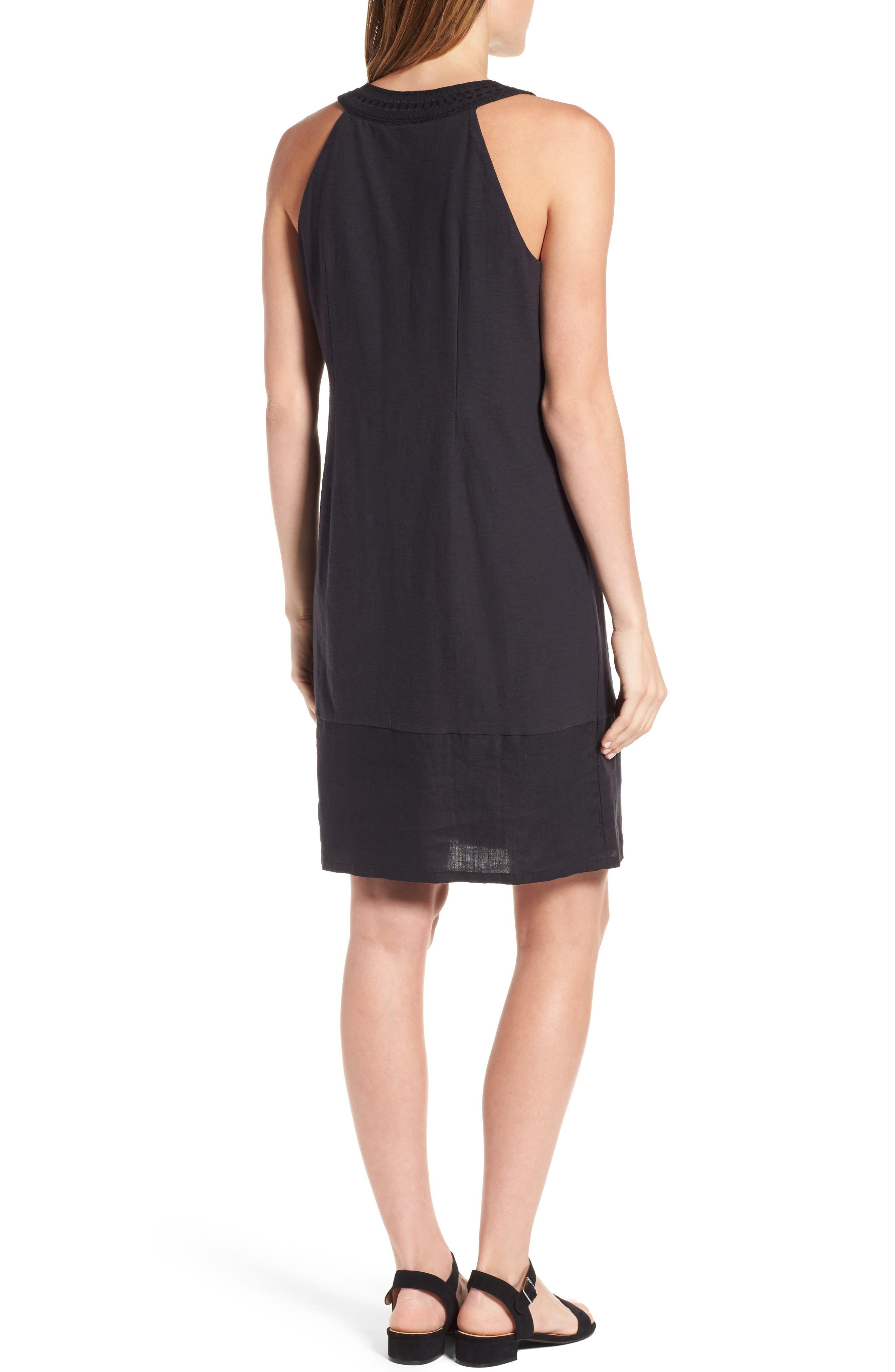 Arden Shift Dress,                             Alternate thumbnail 2, color,                             Black