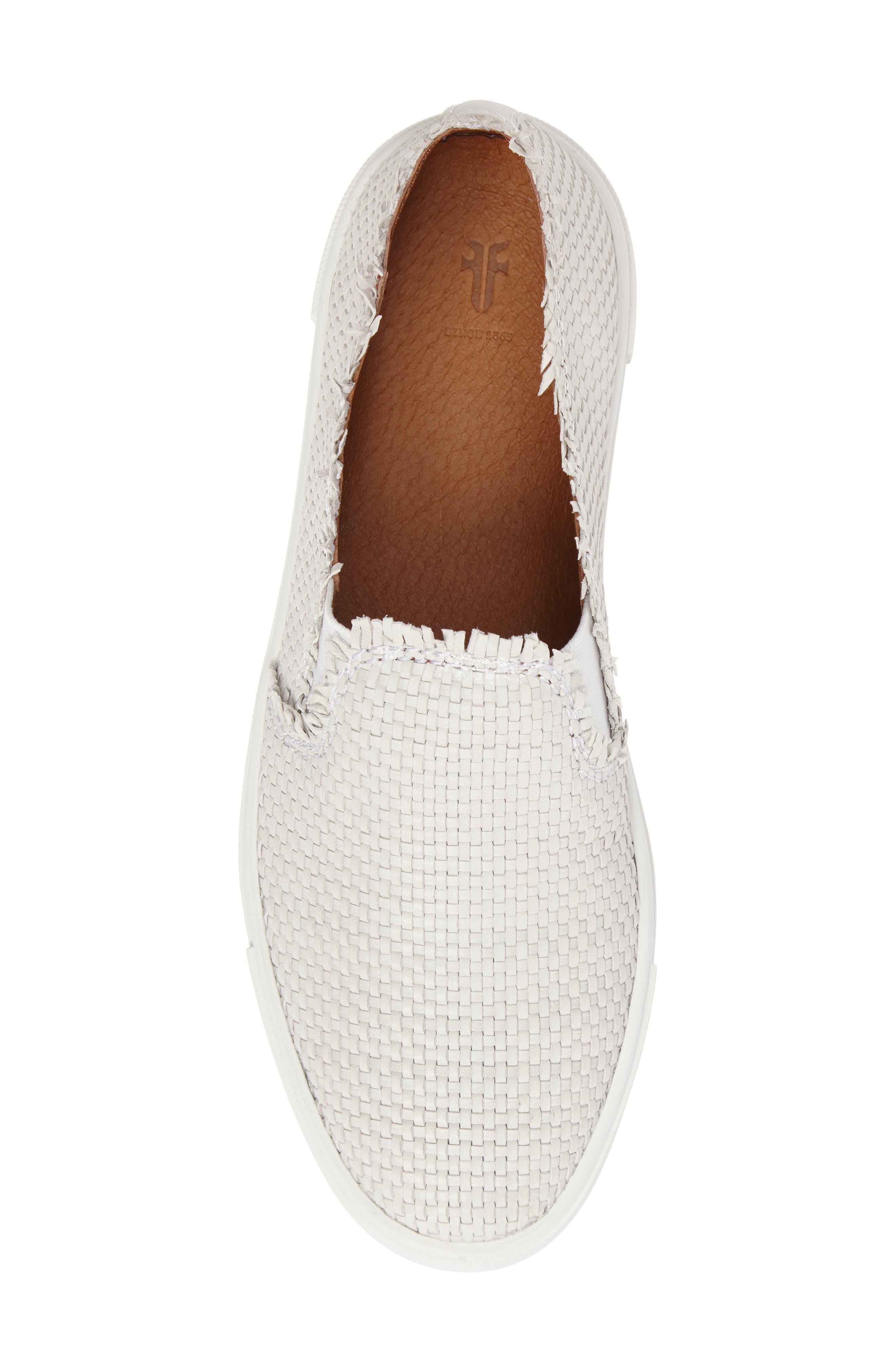 Alternate Image 5  - Frye Ivy Fray Woven Slip-On Sneaker (Women)